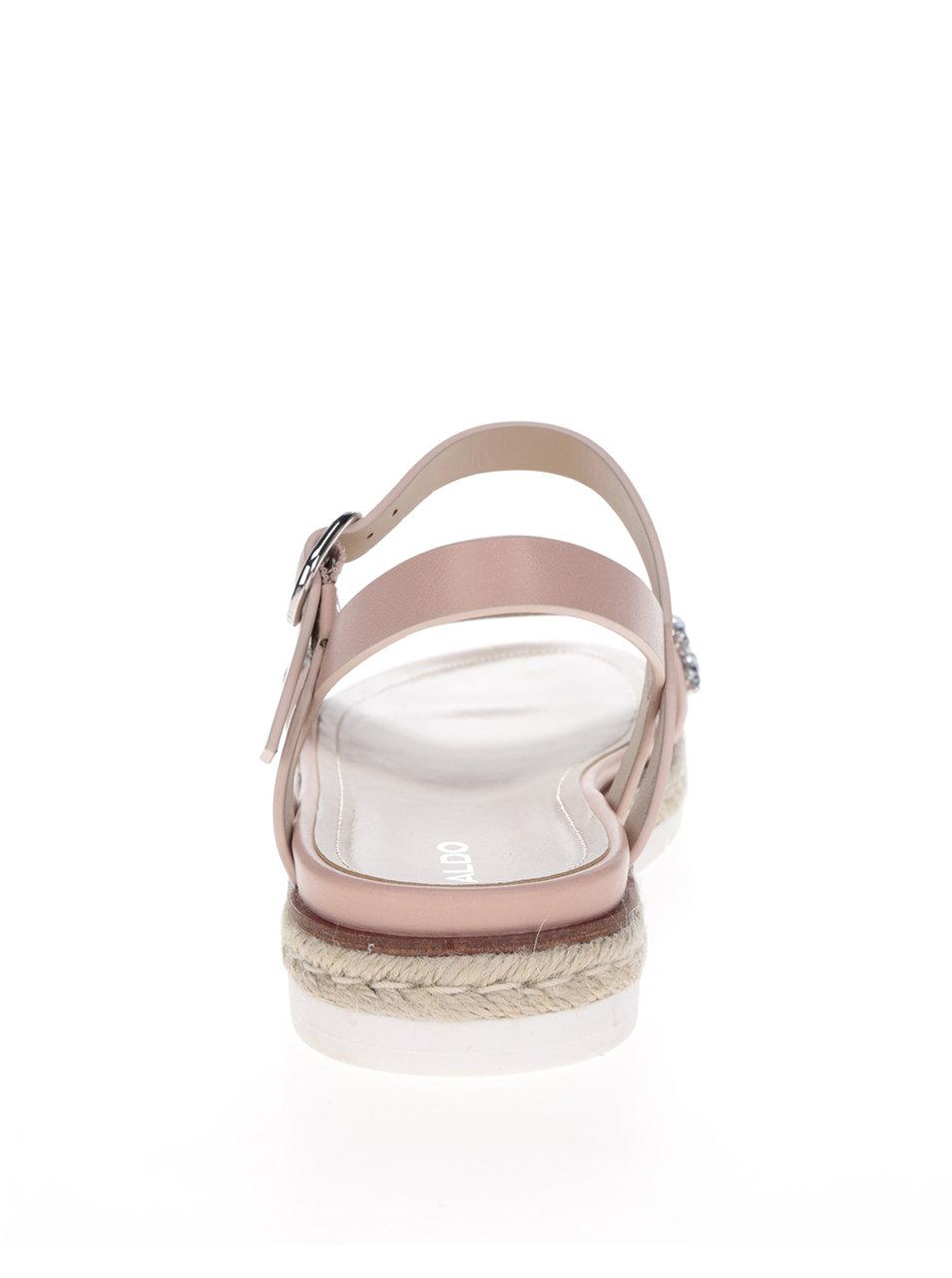 f8fa88a648aa Svetloružové sandále s ozdobnými kamienkami ALDO Kelvyna ...