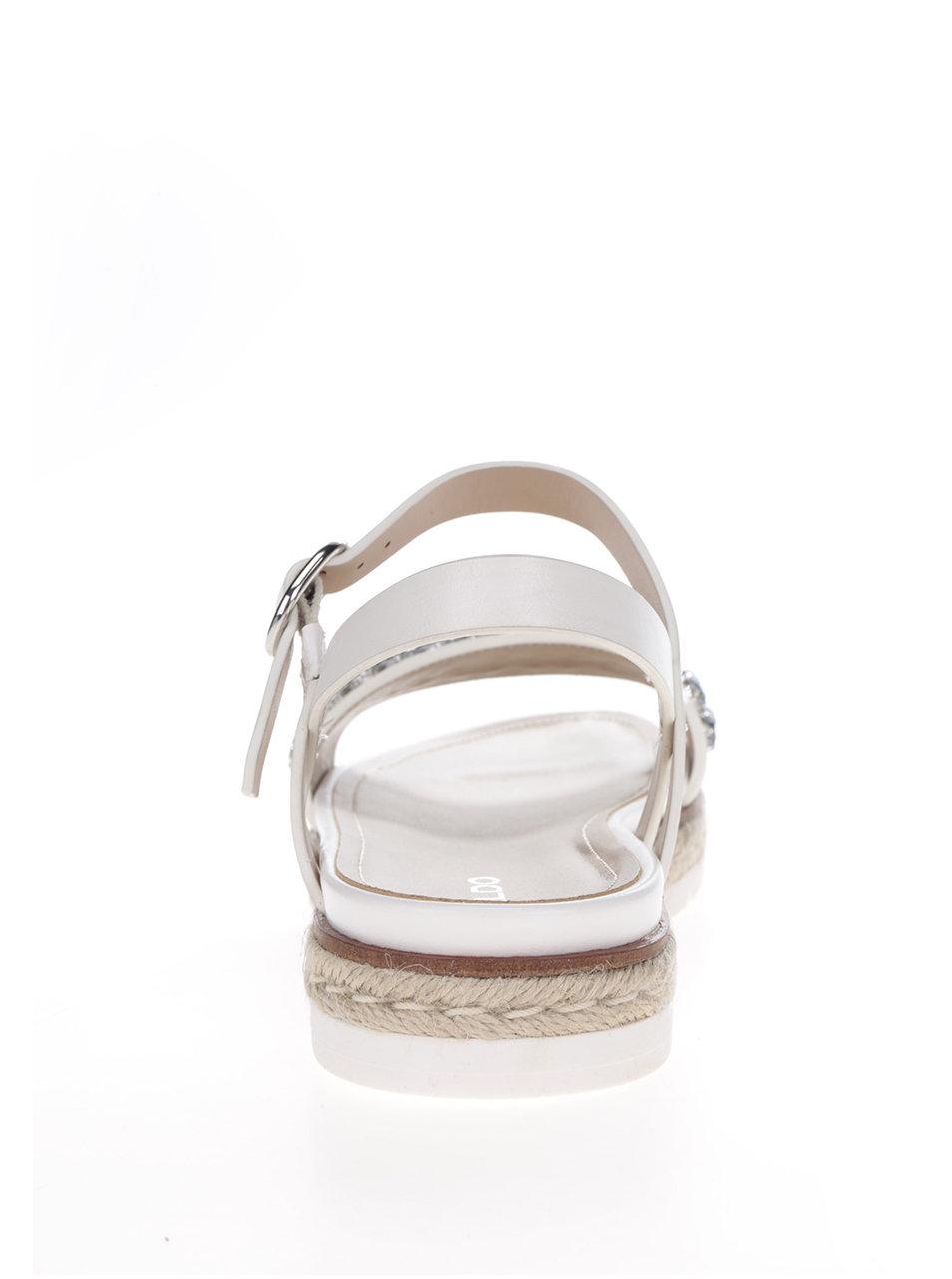 da99ae369be8 Biele dámske sandále s ozdobnými kamienkami ALDO Kelvyna ...