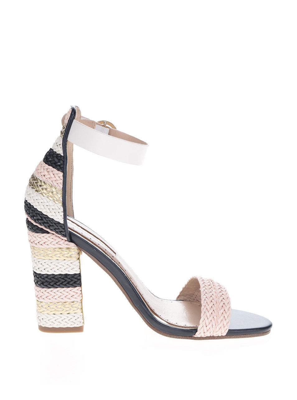 59a297ee195b Krémovo-ružové sandálky na vysokom podpätku Miss KG Ebony ...