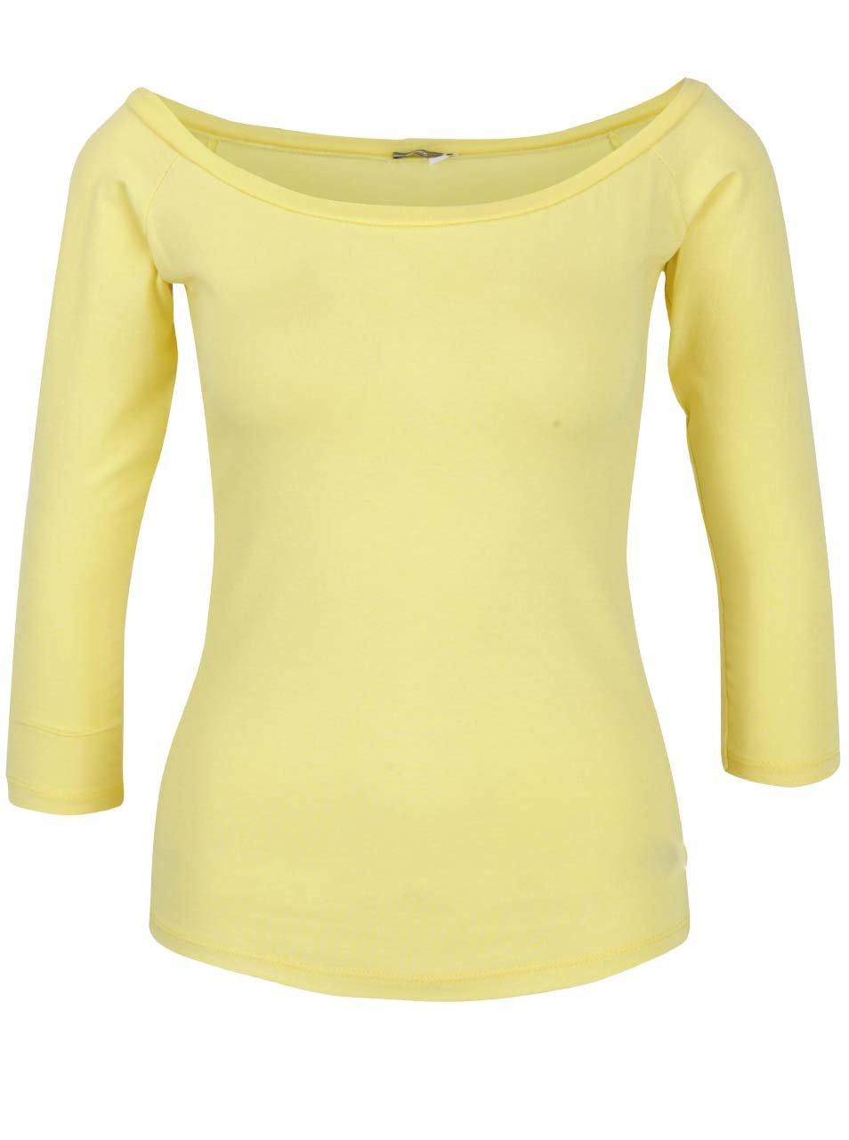 ab80f283a294 Žlté tričko s lodičkovým výstrihom ZOOT ...