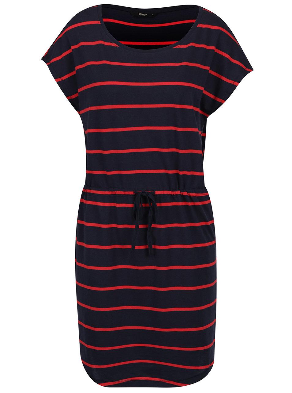 e72e361977a Červeno-modré pruhované šaty ONLY May ...