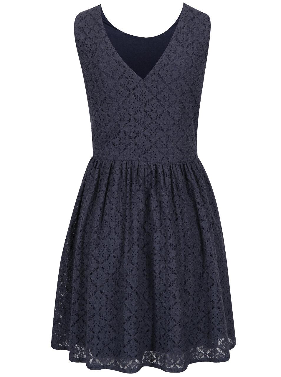 4c91ecf3b052 Modré čipkované šaty VERO MODA Arona ...