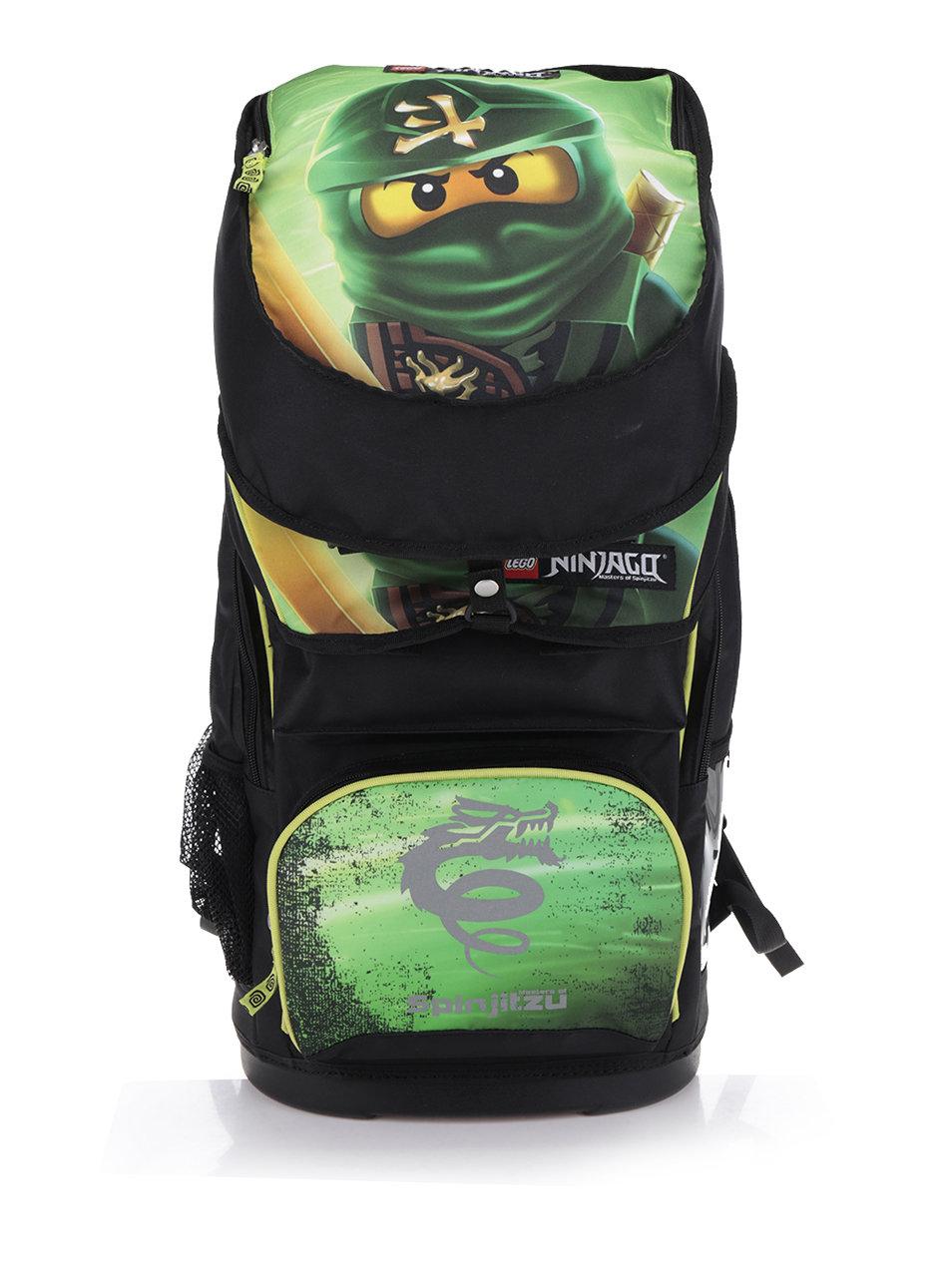Černo-zelená klučičí aktovka s batohem 2v1 LEGO Wear Ninjago Lloyd Maxi 28  l ... 7c61eaeeae