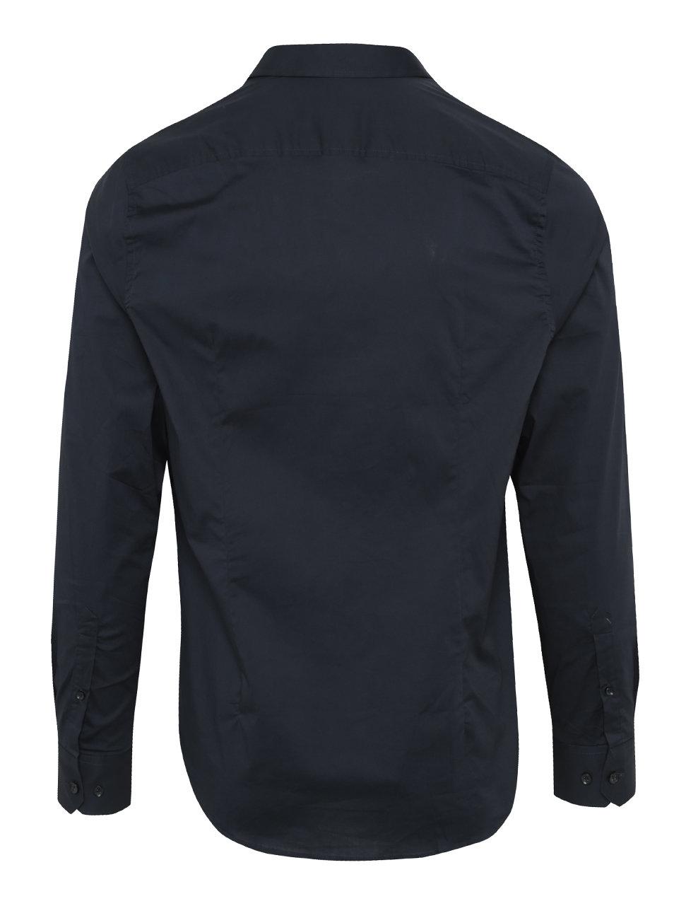 b75d3af90c51 Tmavě modrá pánská formální košile s dlouhým rukávem Garcia Jeans Dario ...