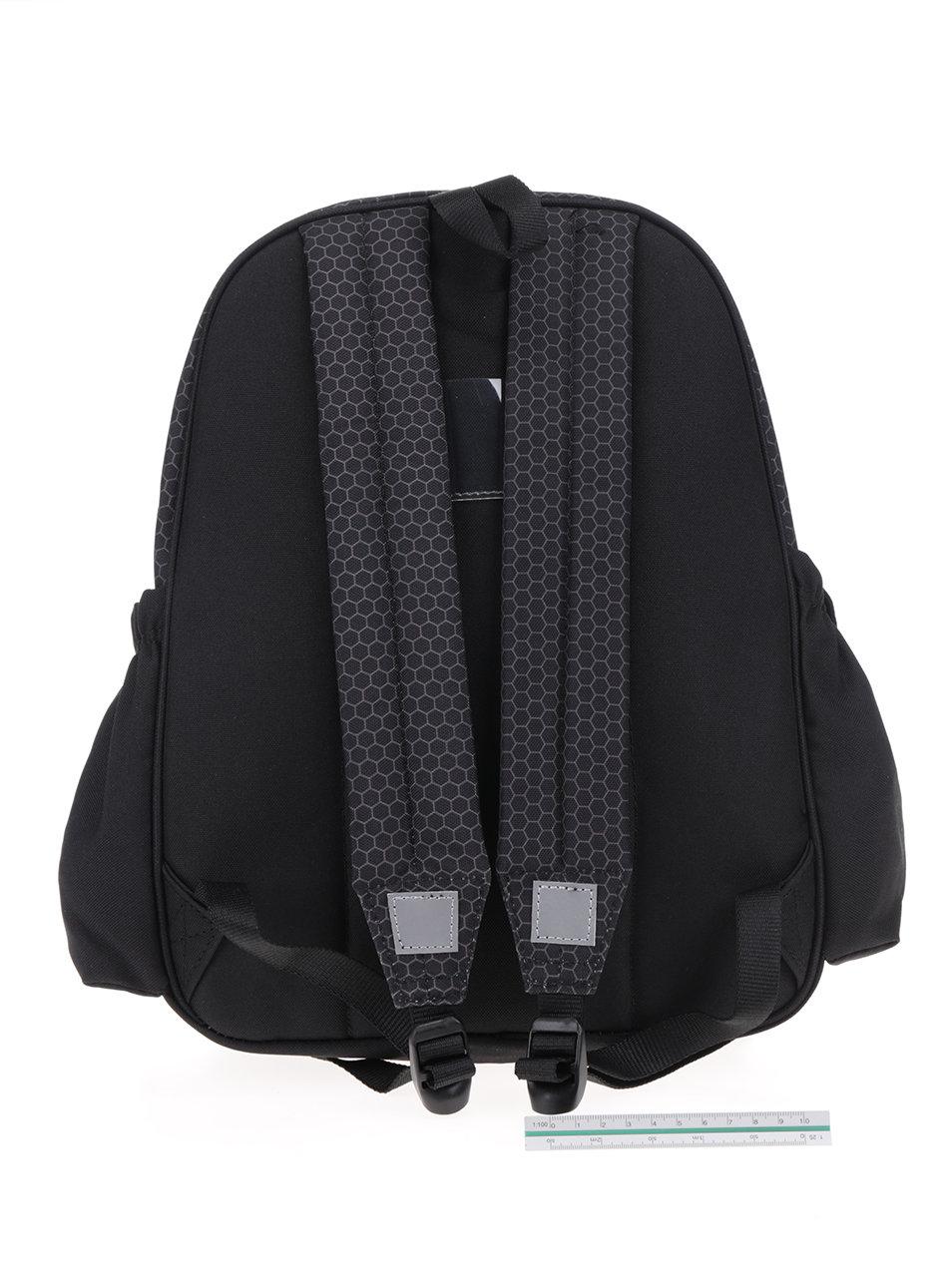 1317d1fe4b6 Černý klučičí vzorovaný batoh s 3D potiskem Freelander Striker ...