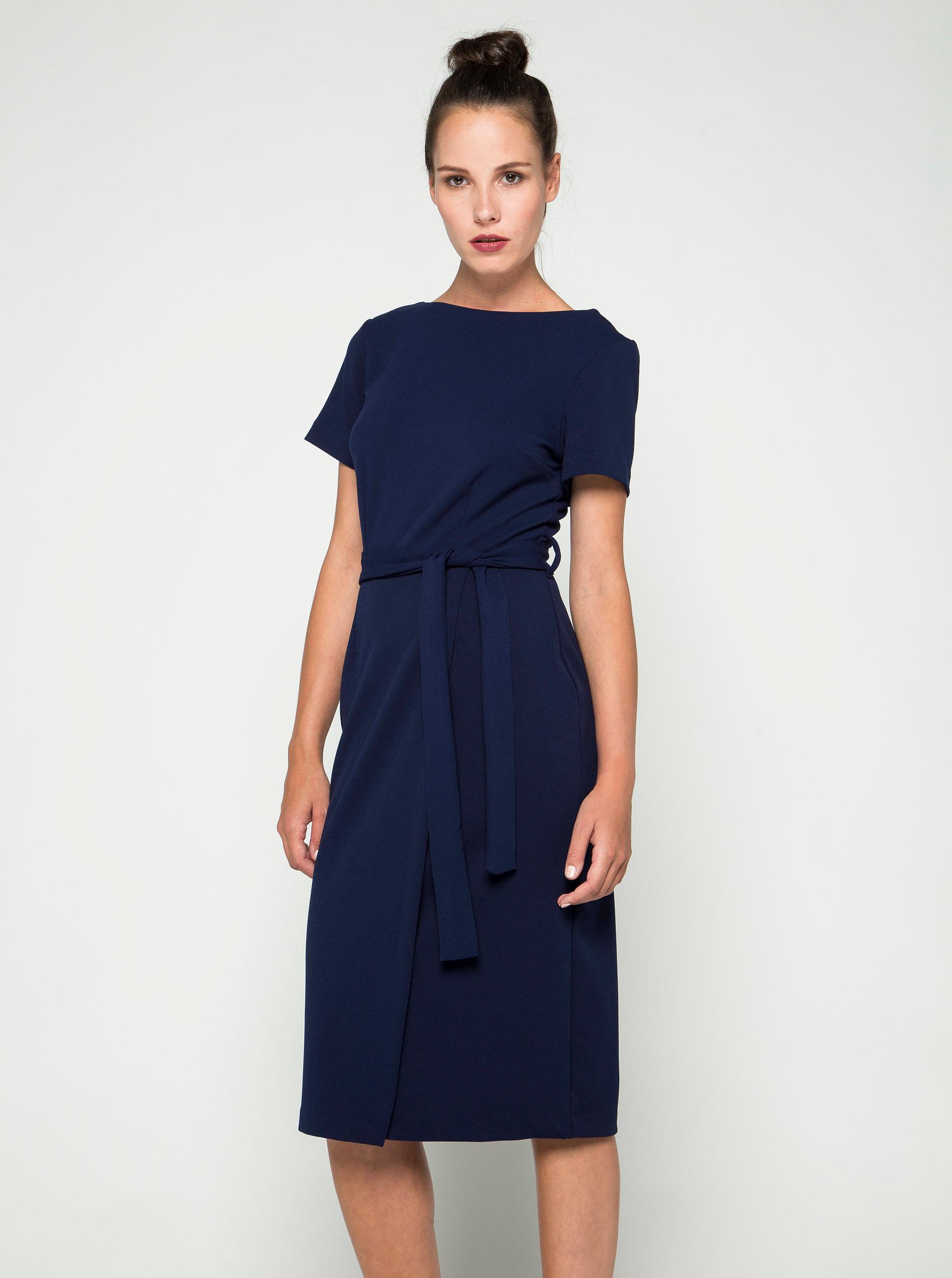 Tmavě modré pouzdrové šaty Dorothy Perkins ... abda361d47