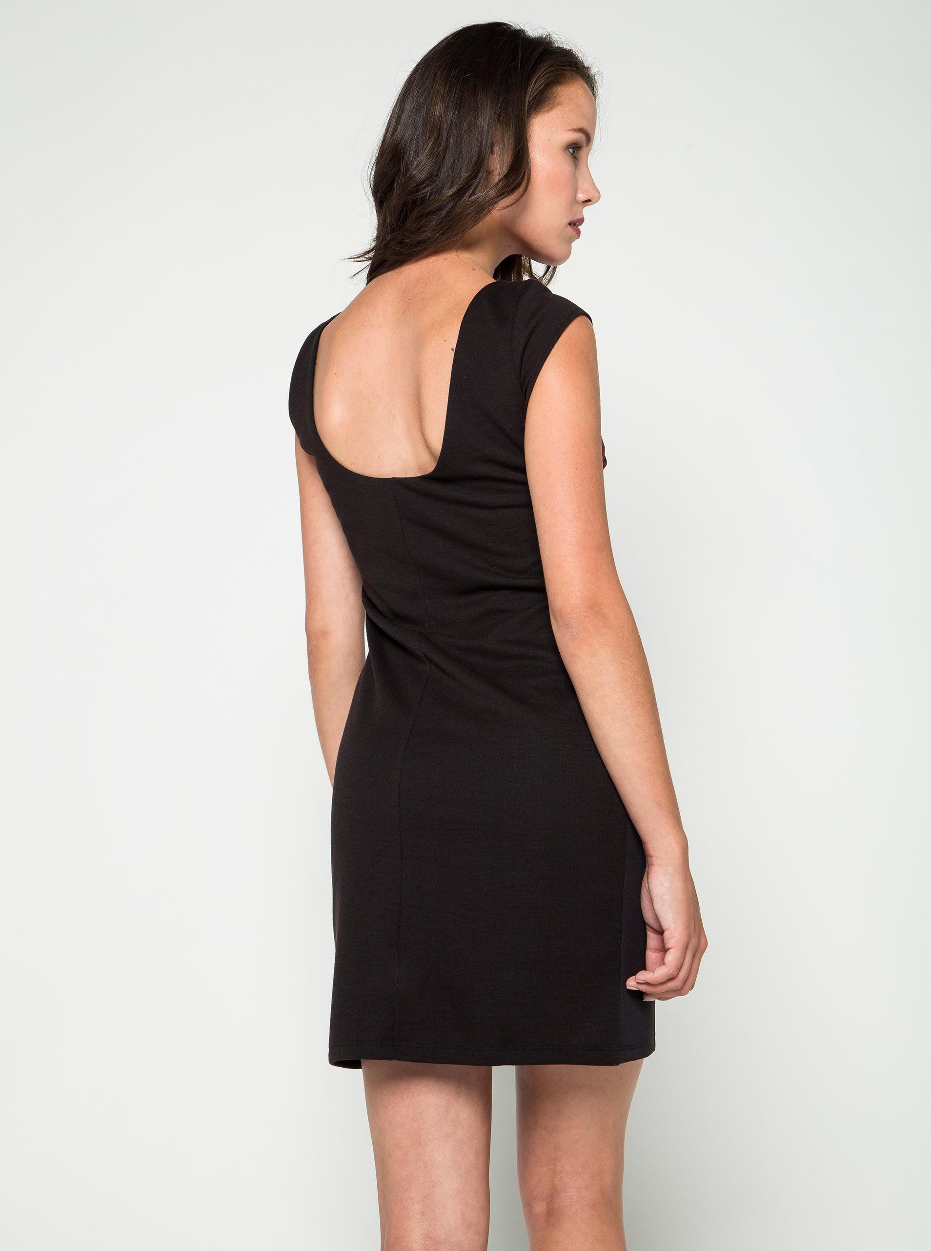 Čierne puzdrové kvetované šaty Desigual Ulianne ... 5d4d1349d44