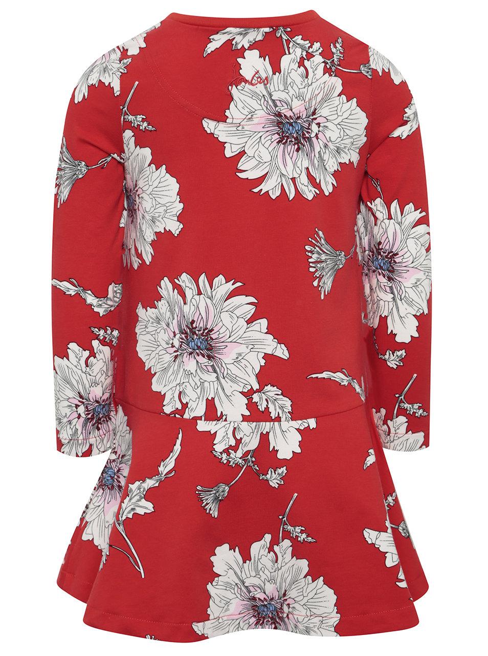 76d051f2fbd5 Červené dievčenské kvetované šaty Tom Joule ...