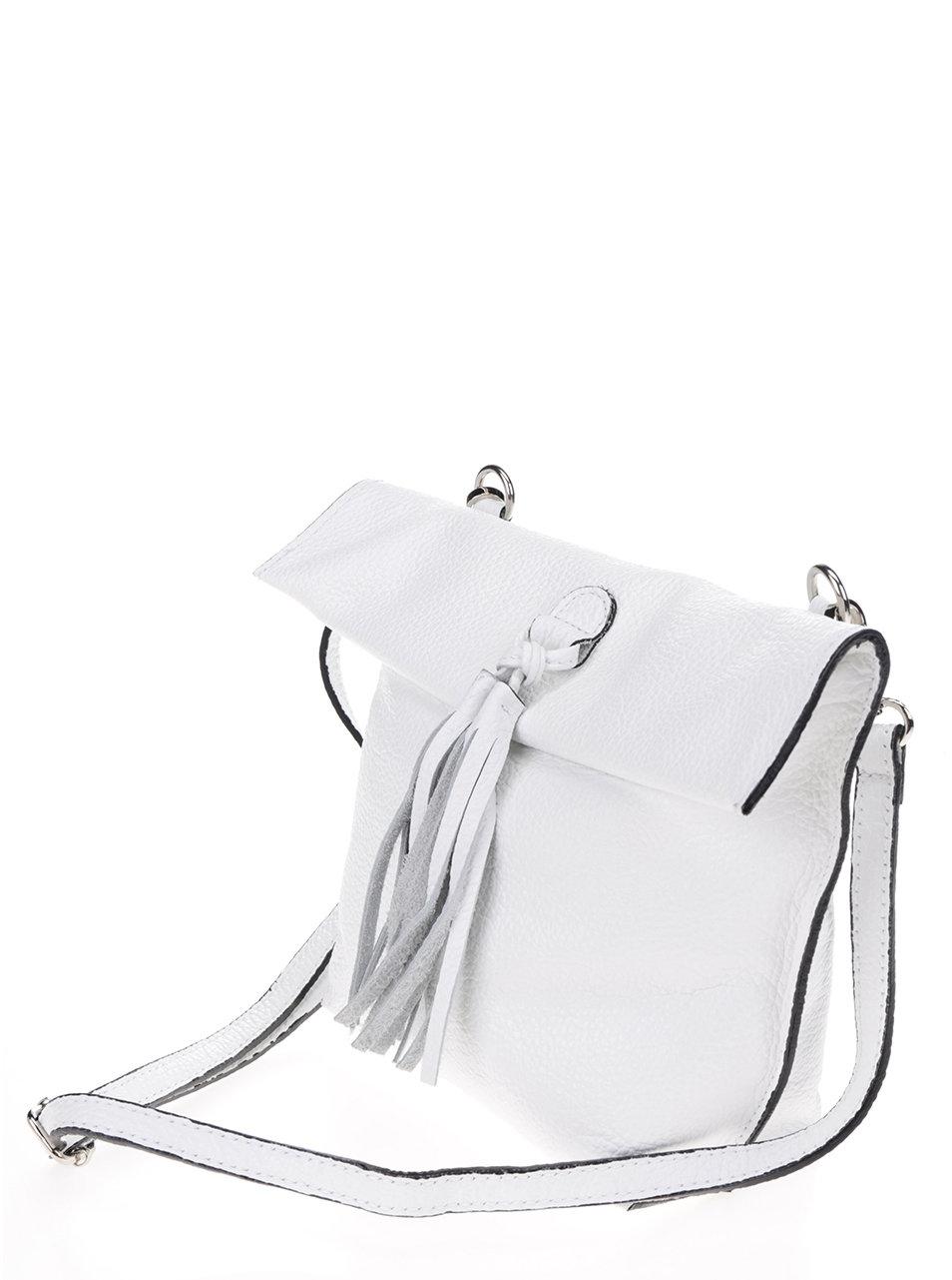 5322dad7c Biela kožená crossbody kabelka so strapcom ZOOT | ZOOT.sk