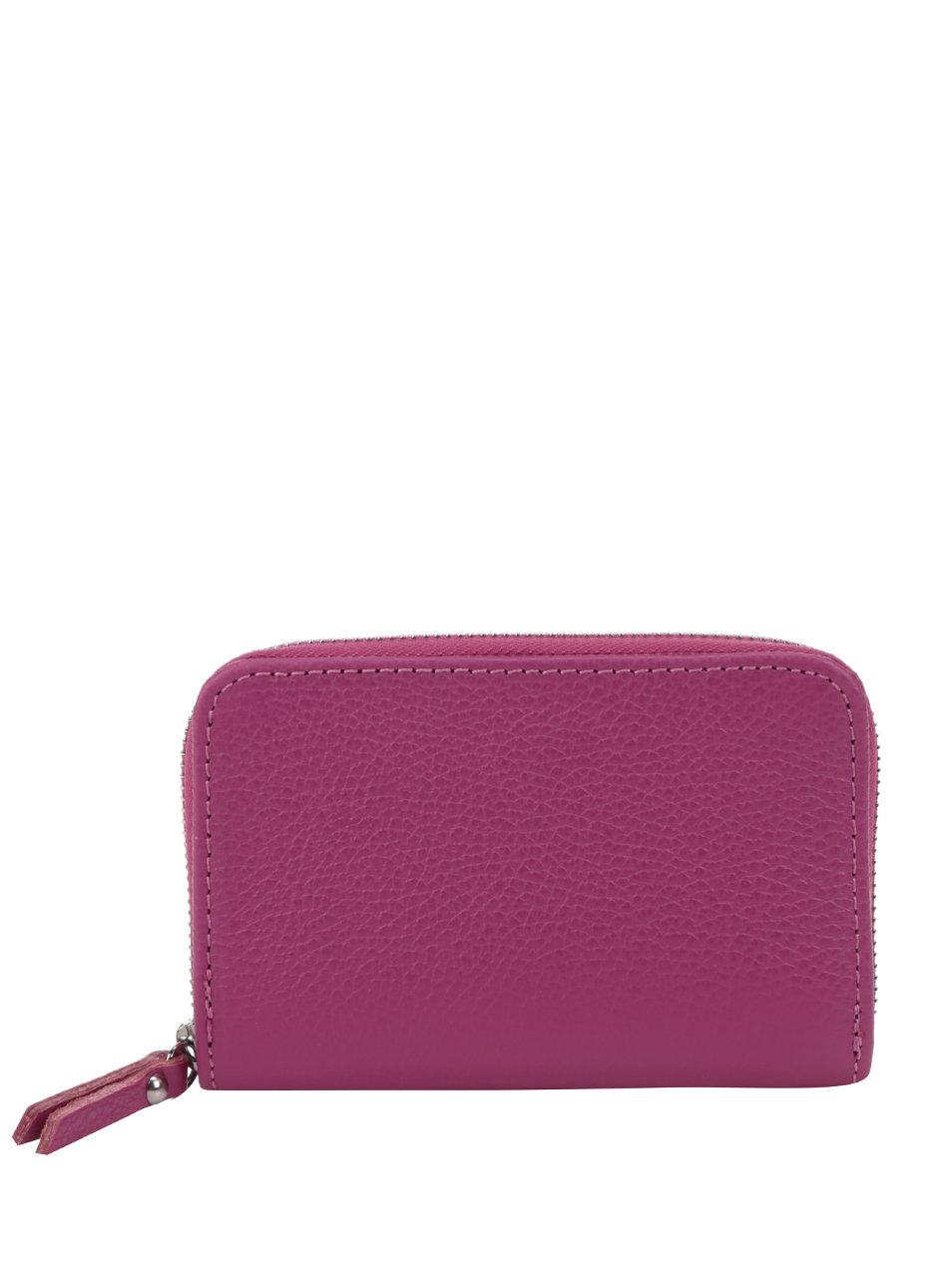 Růžová kožená peněženka ZOOT