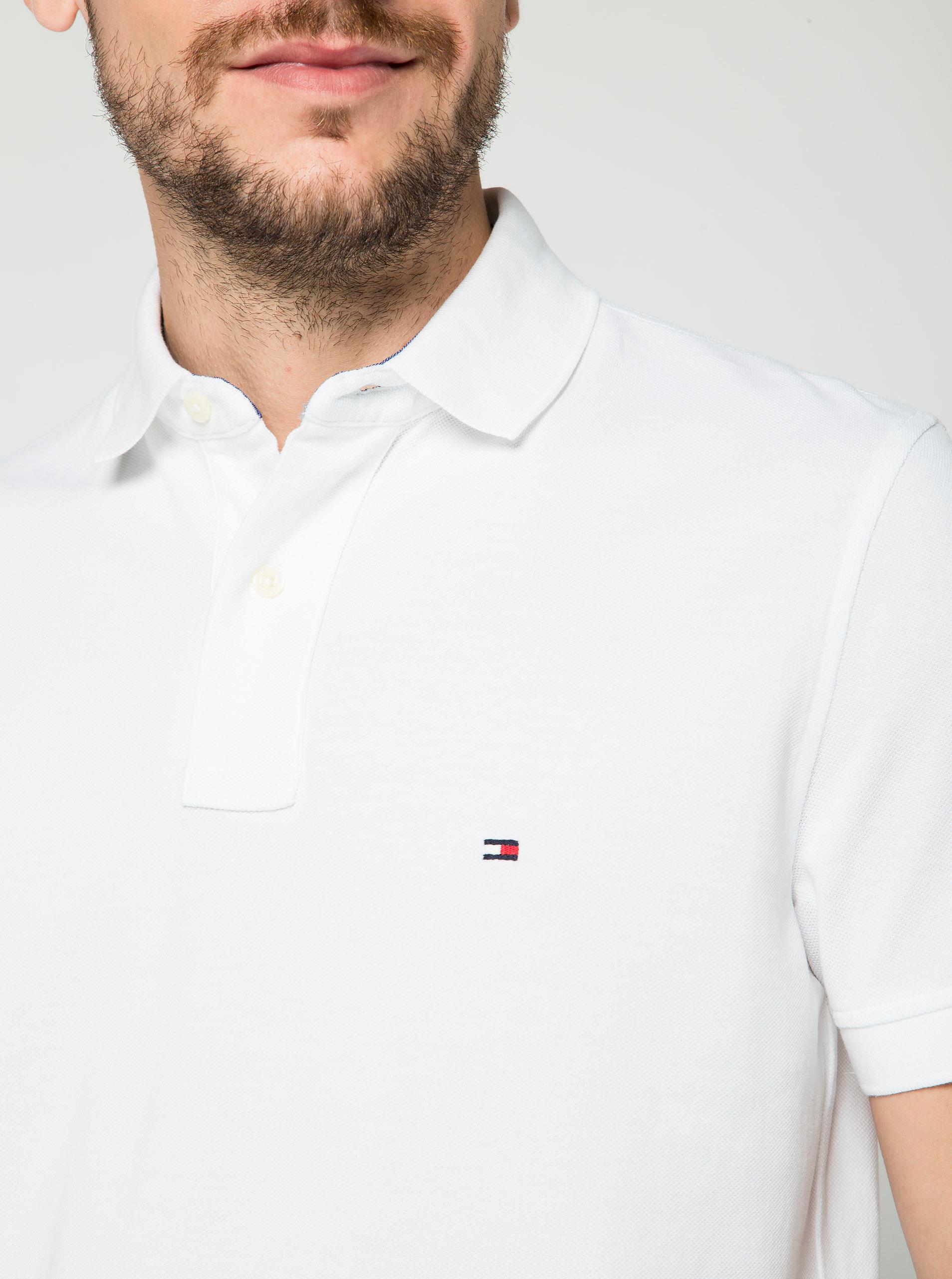 Bílé pánské polo tričko Tommy Hilfiger ... dc17c35cd8b