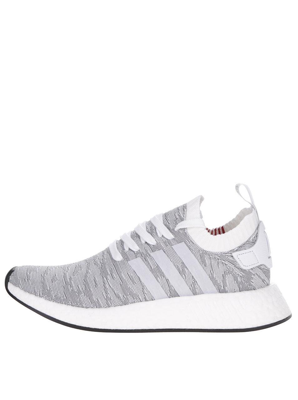 9675441045c31 Bielo-sivé pánske vzorované tenisky adidas Originals NMD | ZOOT.sk