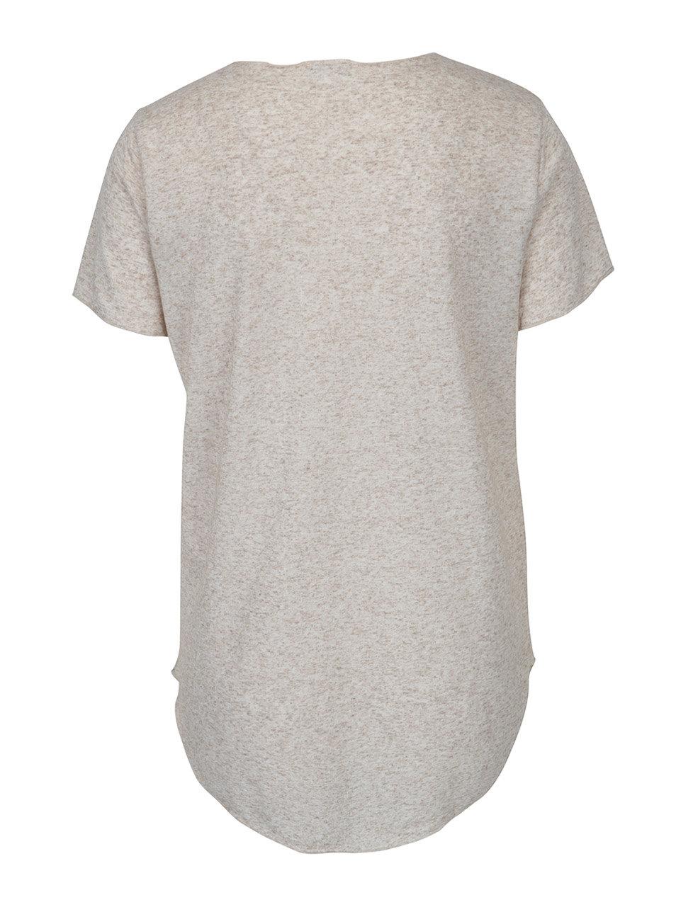 c6bbcf1c42ac Béžové žíhané tričko s příměsí lnu Jacqueline de Yong Linette ...
