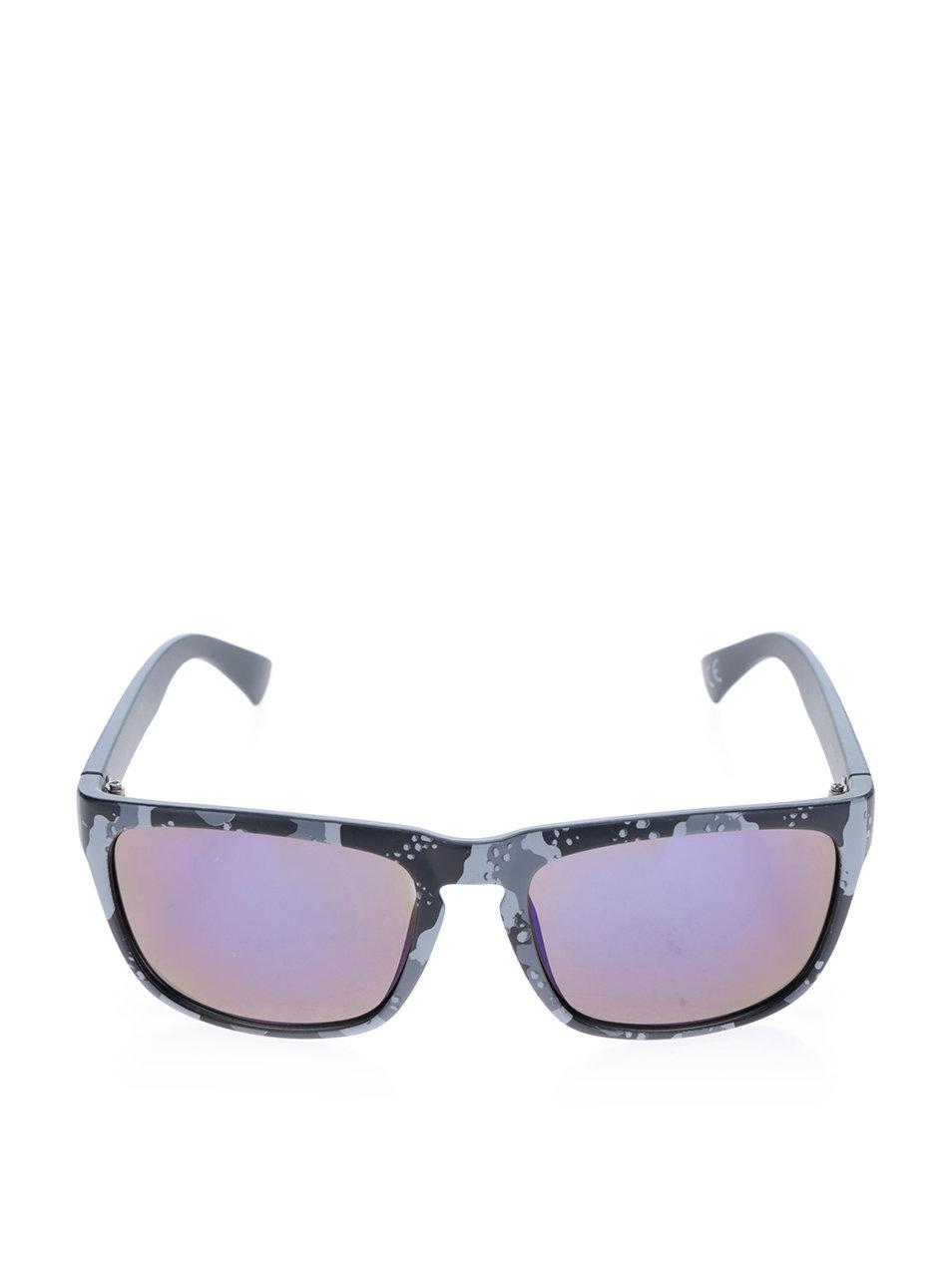 4faa198f6 Sivo-čierne pánske slnečné okuliare s maskáčovým vzorom NUGGET Shell ...