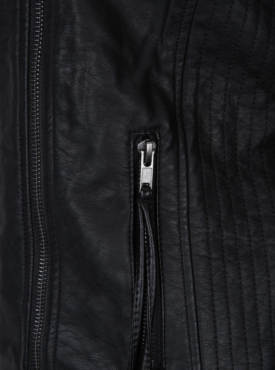 Čierna koženková bunda VERO MODA Kamma ... ea9a3a9ebfb