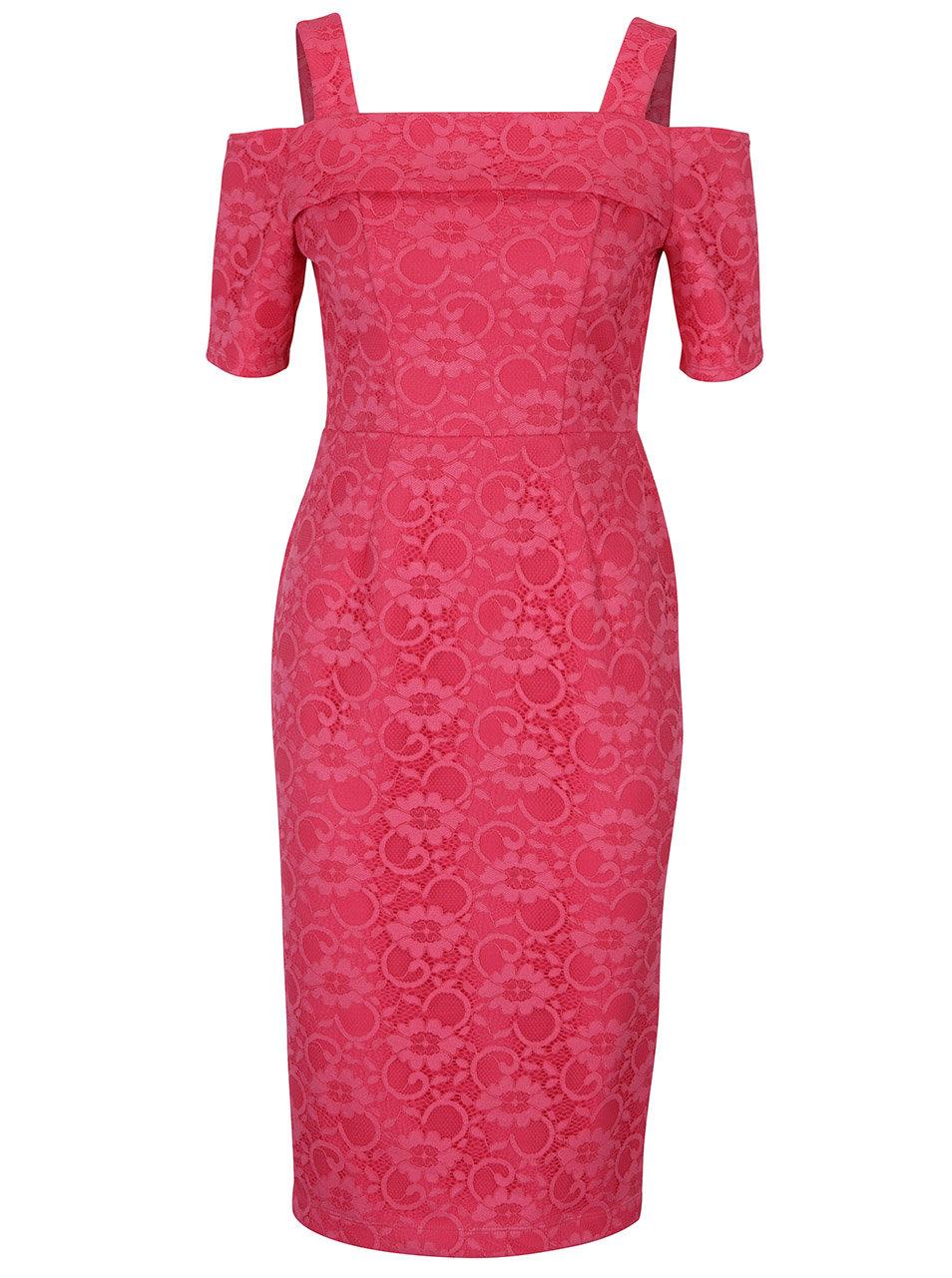 d4118fa3d Růžové krajkové pouzdrové šaty Dorothy Perkins | ZOOT.cz