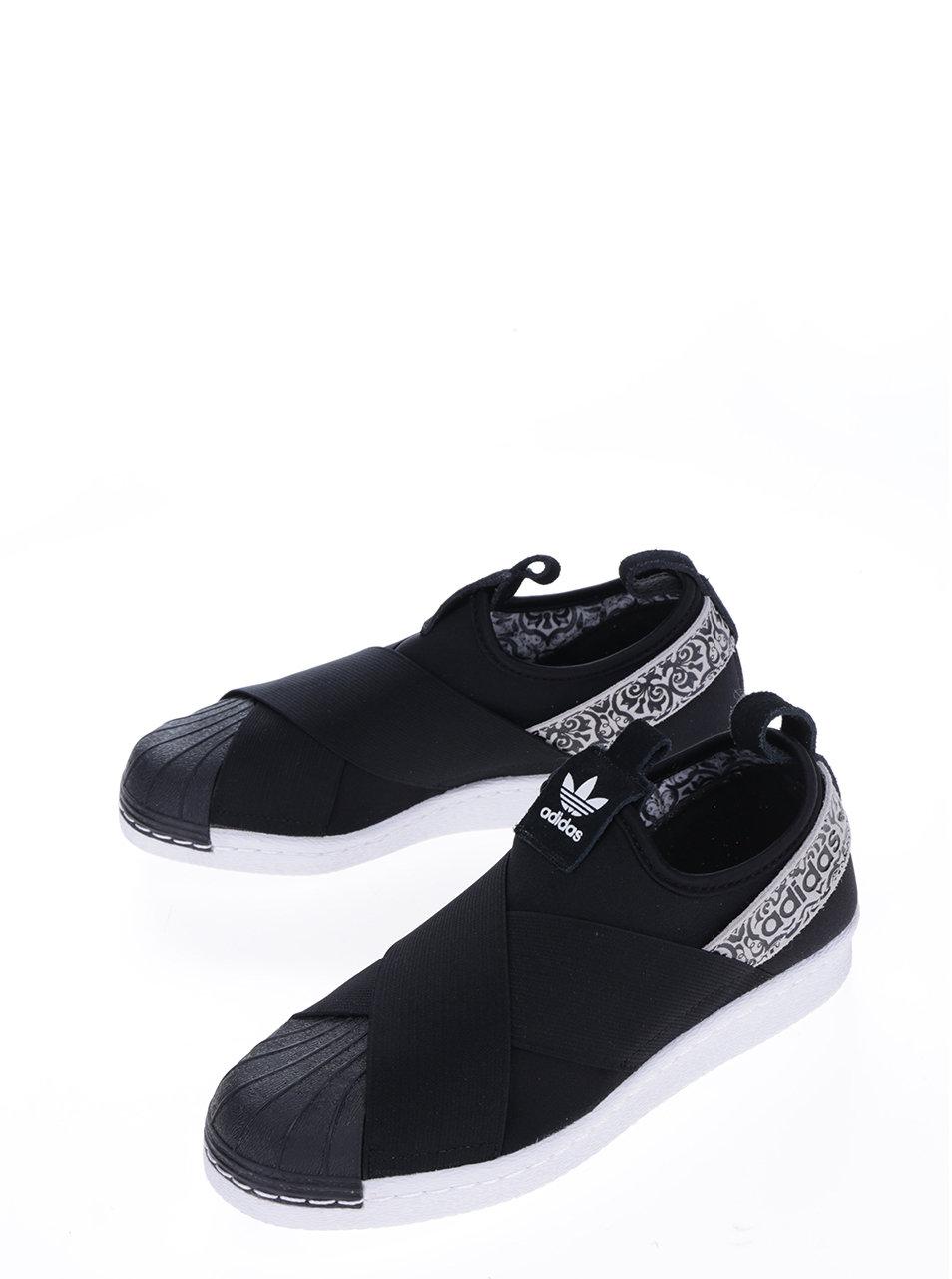 Čierne dámske slip-on tenisky s ozdobným vzorom adidas Originals Superstar  ... 98c162c3f12