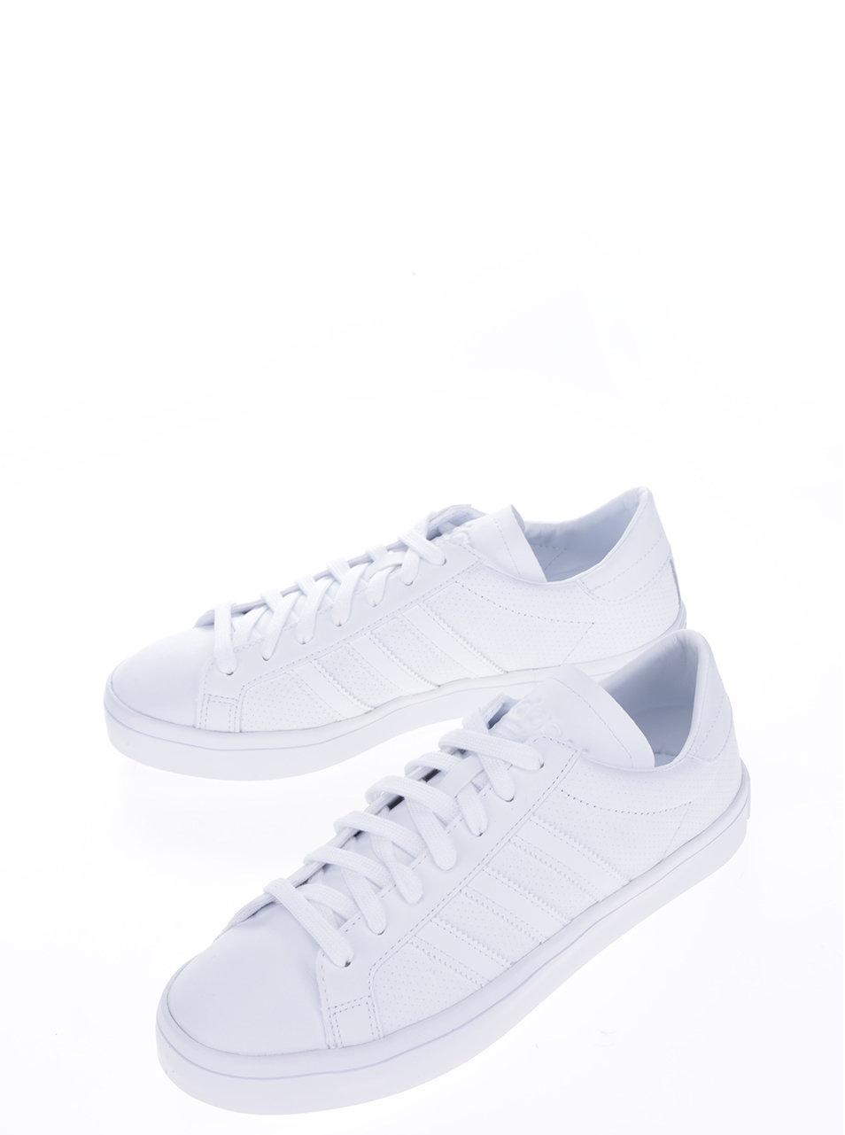 Biele pánske kožené tenisky adidas Originals Courtvantage ... dd4c68eda6a