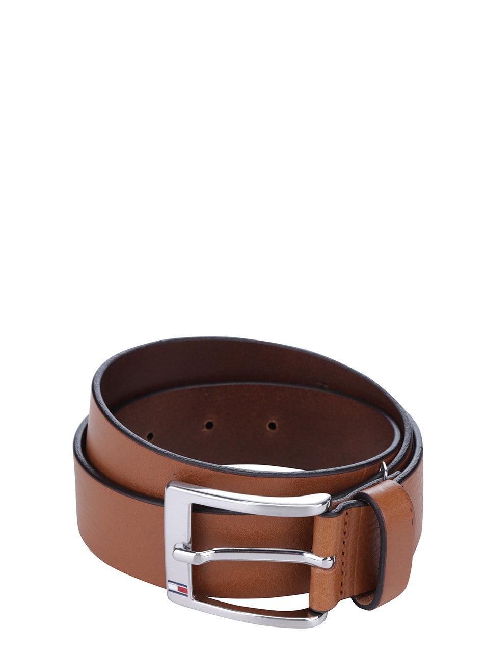 Hnedý pánsky kožený opasok Tommy Hilfiger New Aly ... 91f46a335d7