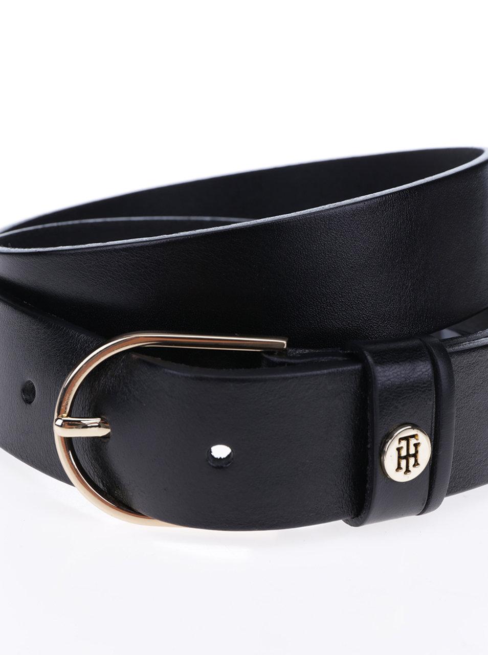 Čierny dámsky kožený opasok Tommy Hilfiger Classic ... d1d5af84063