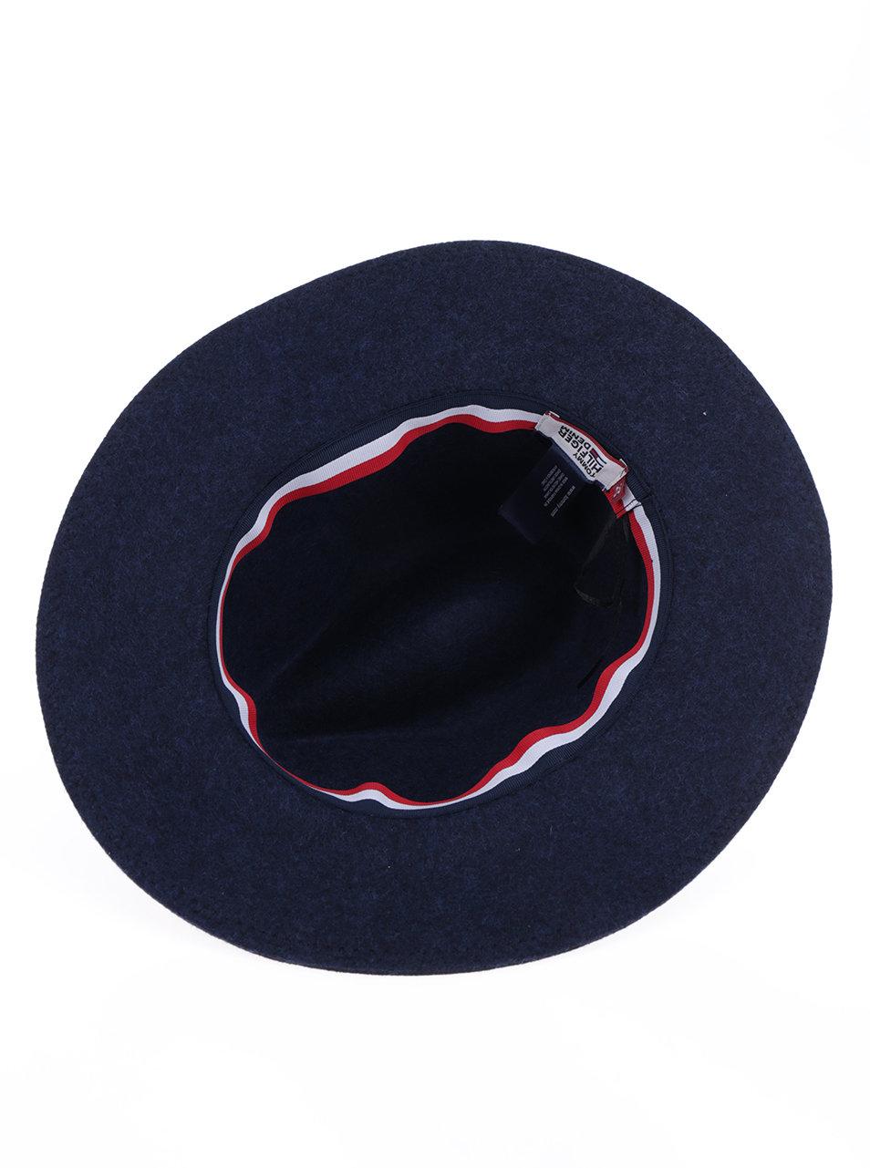 934ace174db Tmavě modrý dámský vlněný klobouk Tommy Hilfiger Fedora ...