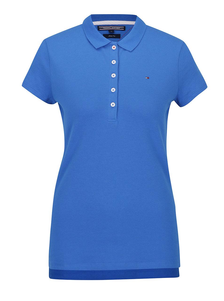 Modré dámske polo tričko Tommy Hilfiger New Chiara ... 47dc05cf4e
