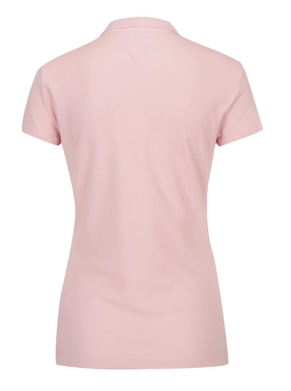 Ružové dámske polo tričko Tommy Hilfiger New Chiara ... f604c4b11c