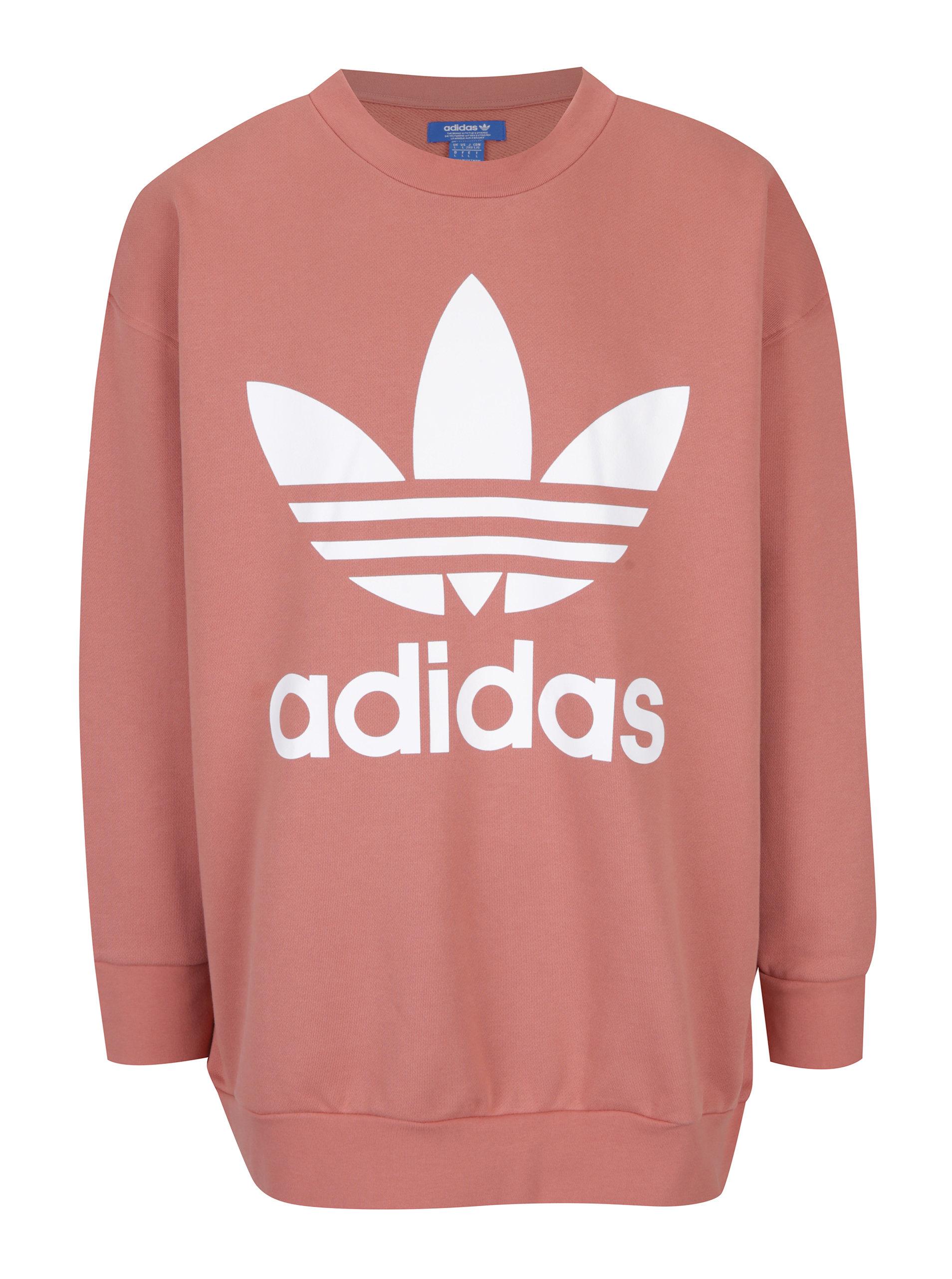 Ružová pánska mikina adidas Originals ... a06e920b3d8