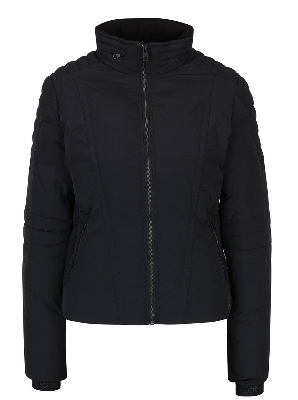 f34e23010b Černá dámská prošívaná bunda se skrytou kapucí Calvin Klein Jeans Ofira ...