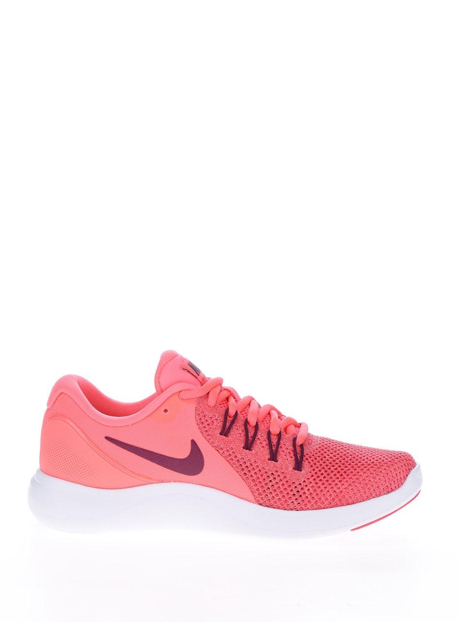 45a0c8f4ae Neonově růžové dámské perforované tenisky Nike Lunar Apparent ...