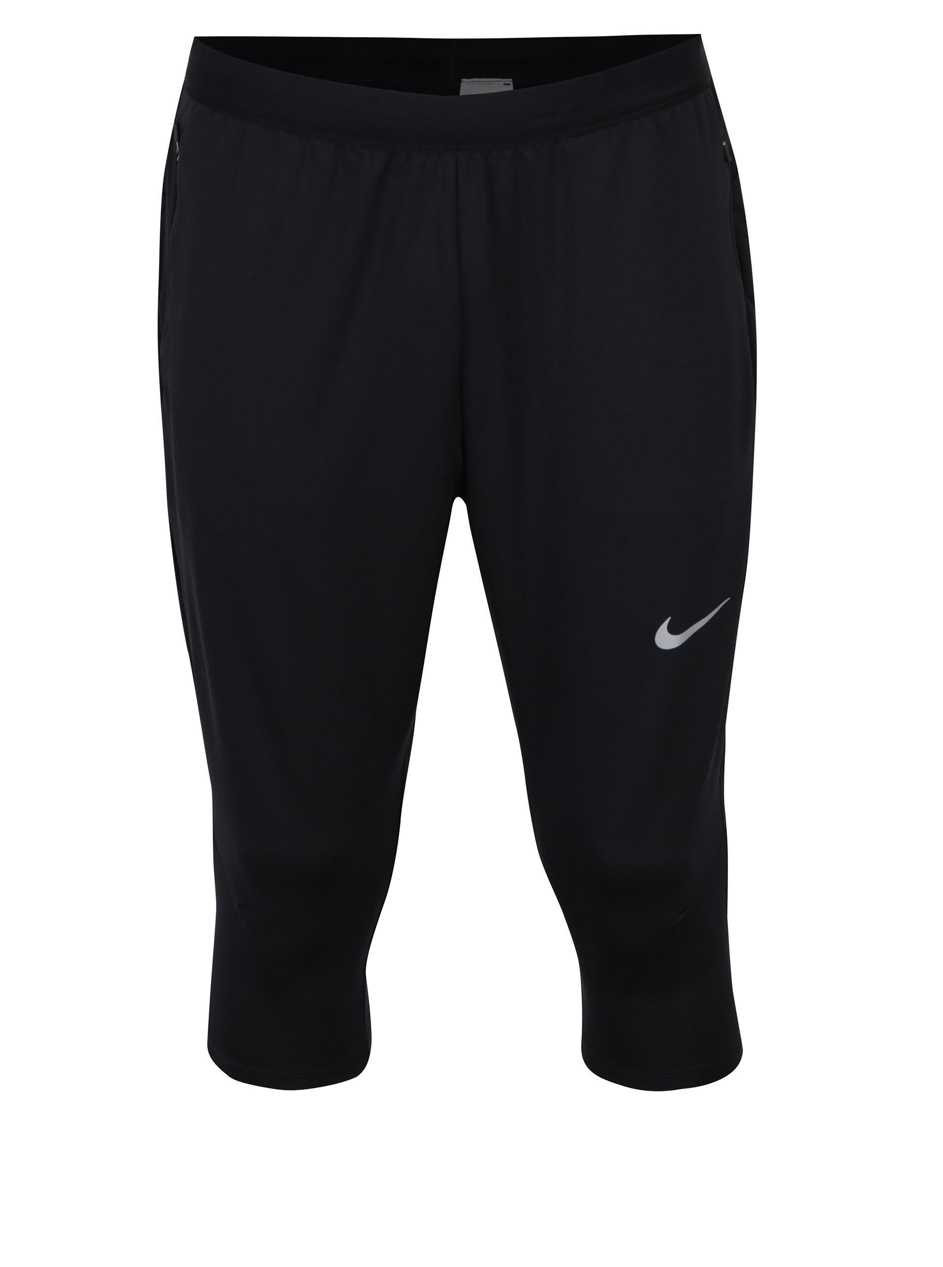 7a59154dda01 Čierne pánske funkčné 3 4 nohavice Nike Dry ...