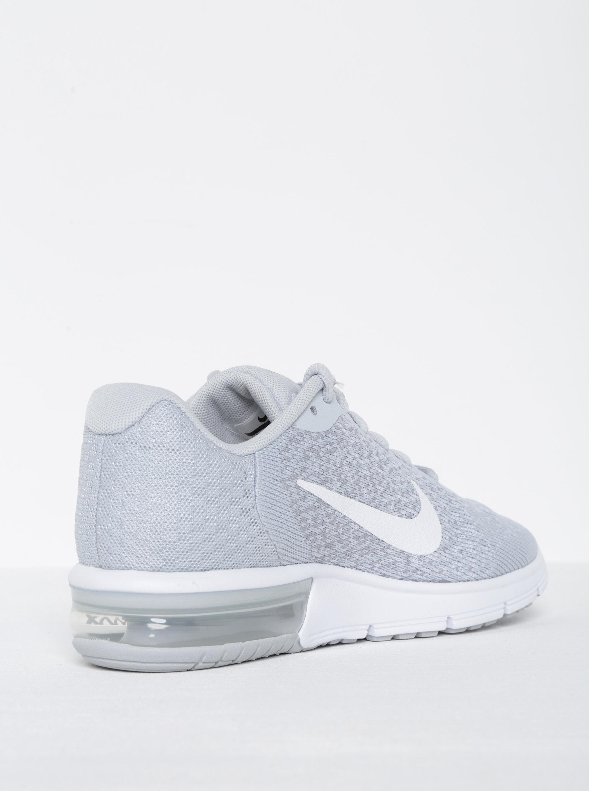 Světle šedé žíhané dámské tenisky Nike Air Max Sequent ... 9d8c746c6c
