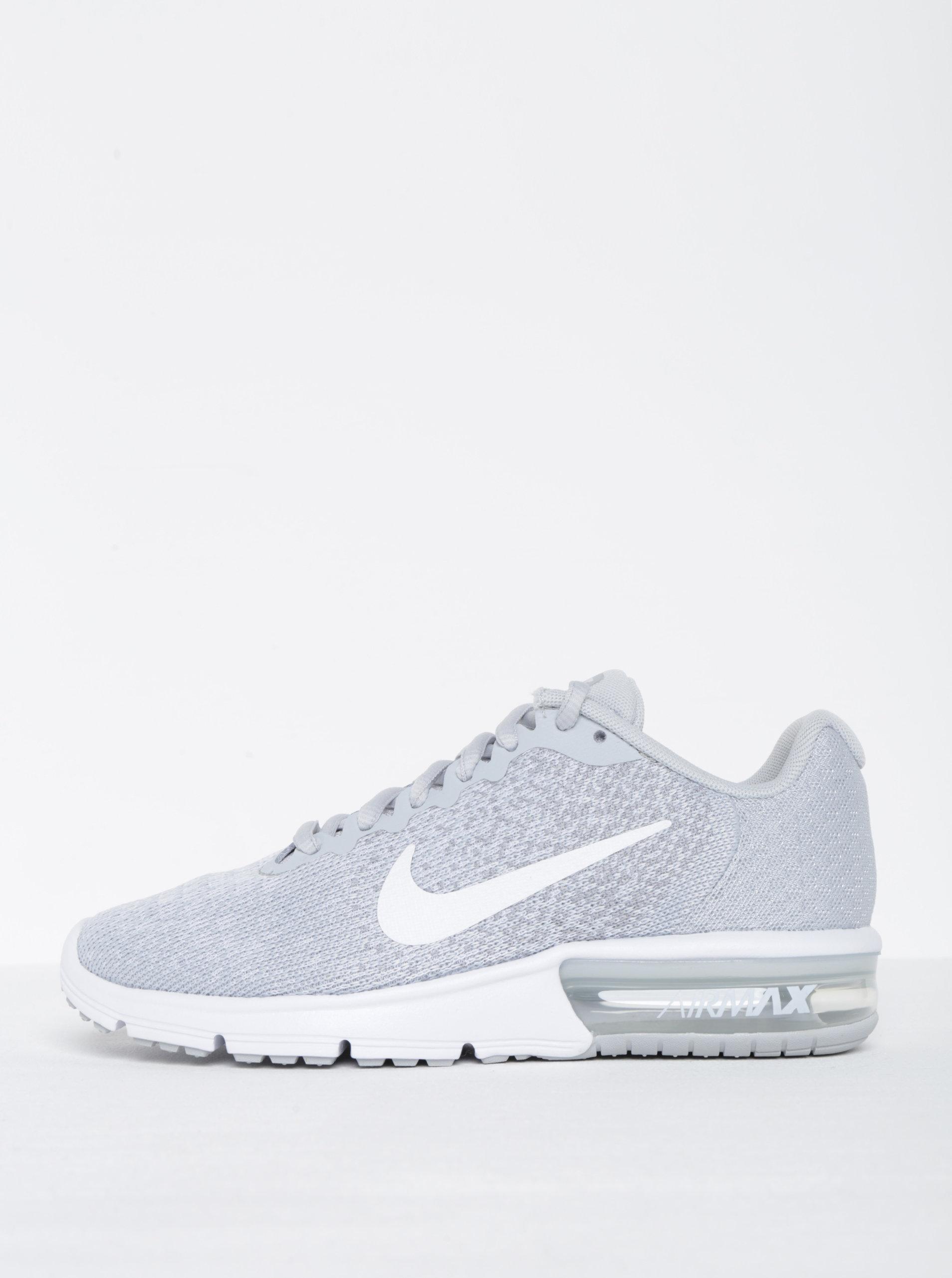 de098af0030 Světle šedé žíhané dámské tenisky Nike Air Max Sequent ...