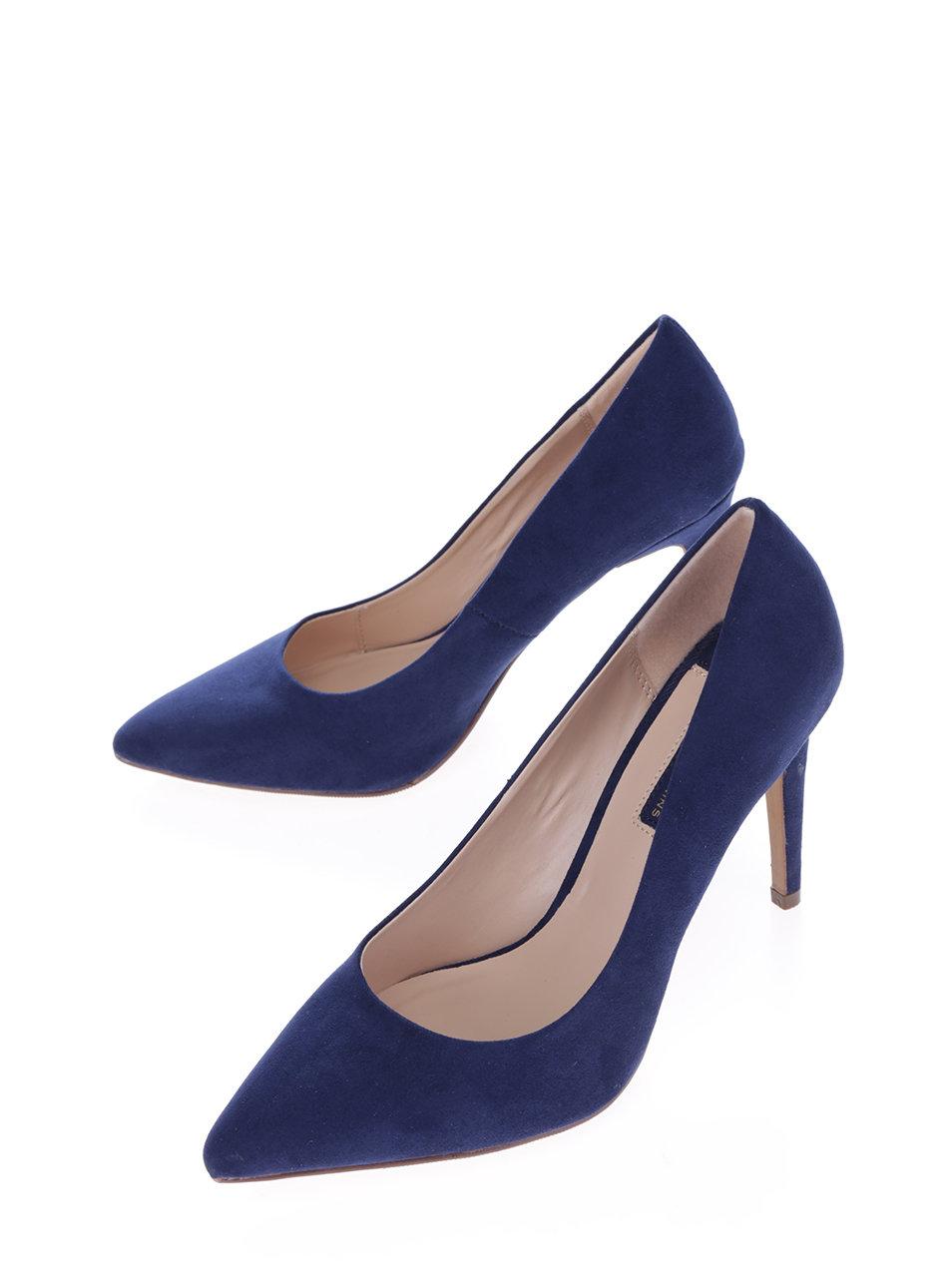 Tmavě modré lodičky v semišové úpravě Dorothy Perkins ... 055eed792e
