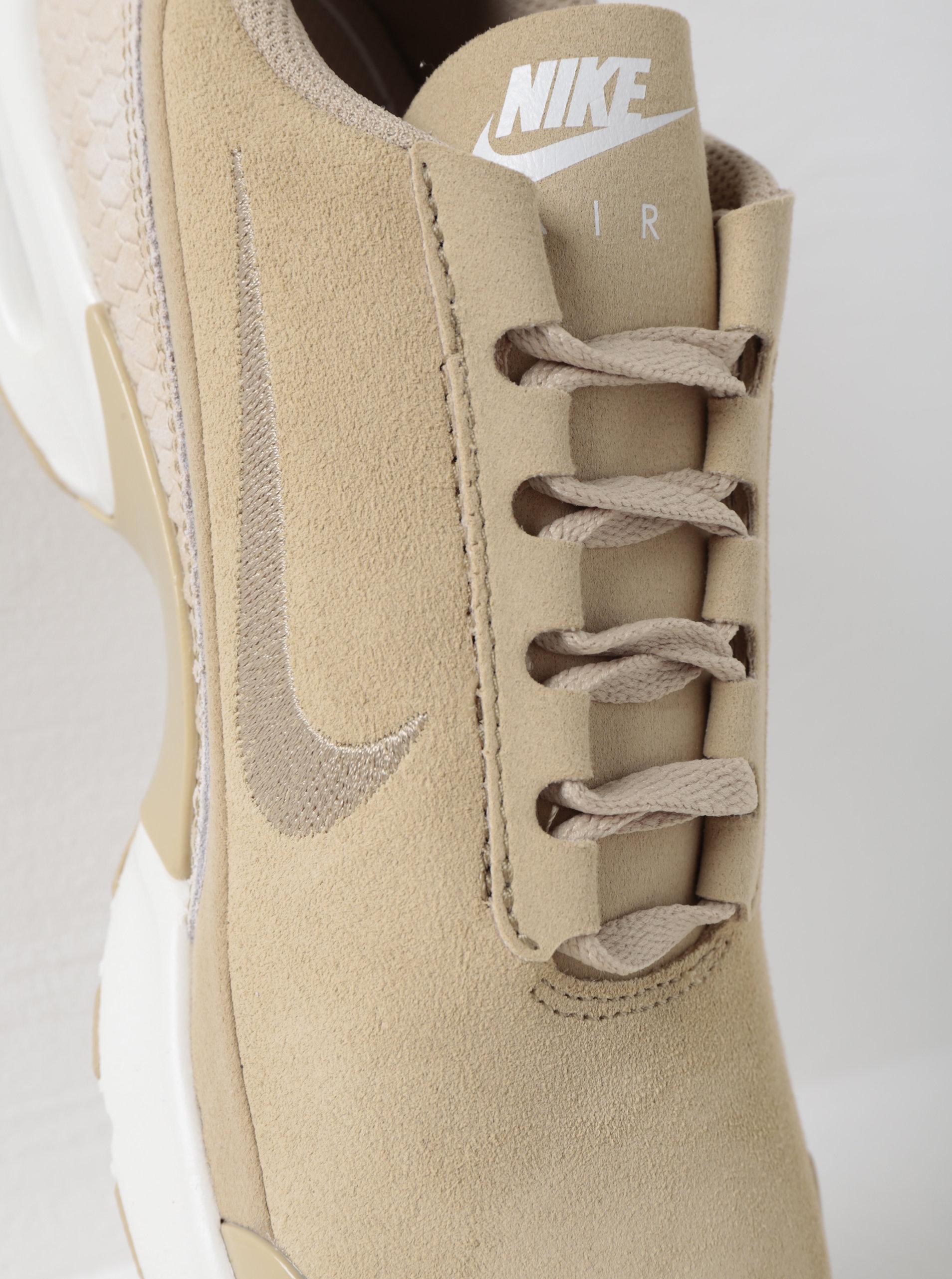 7f12198cd28d5 Béžové dámske semišové tenisky so štruktúrovanými detailmi Nike Air Max  Premium ...