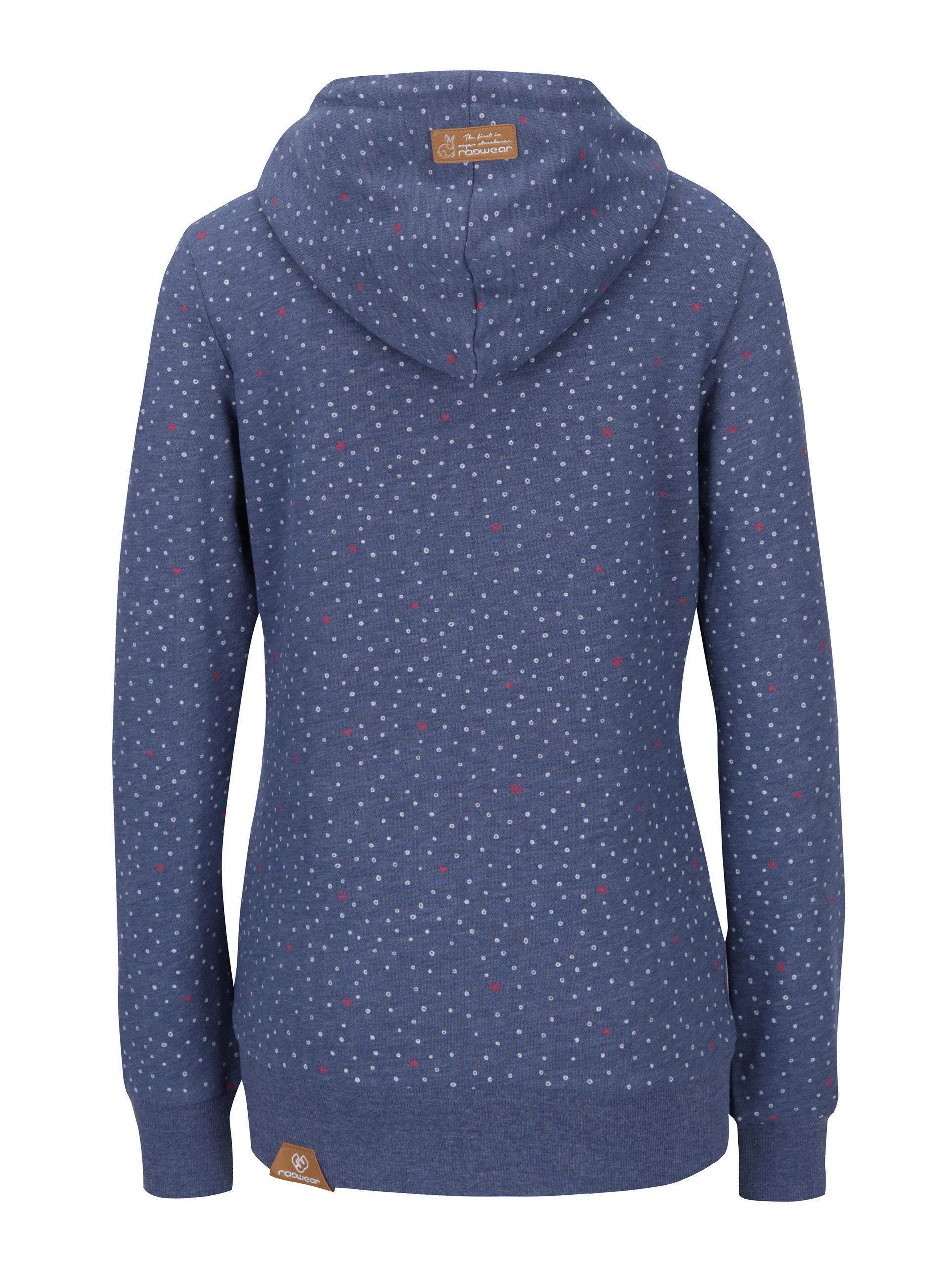 72c8b1f6b0a9 Modrá dámska vzorovaná mikina na zips Ragwear Chelsea Heart Zip ...