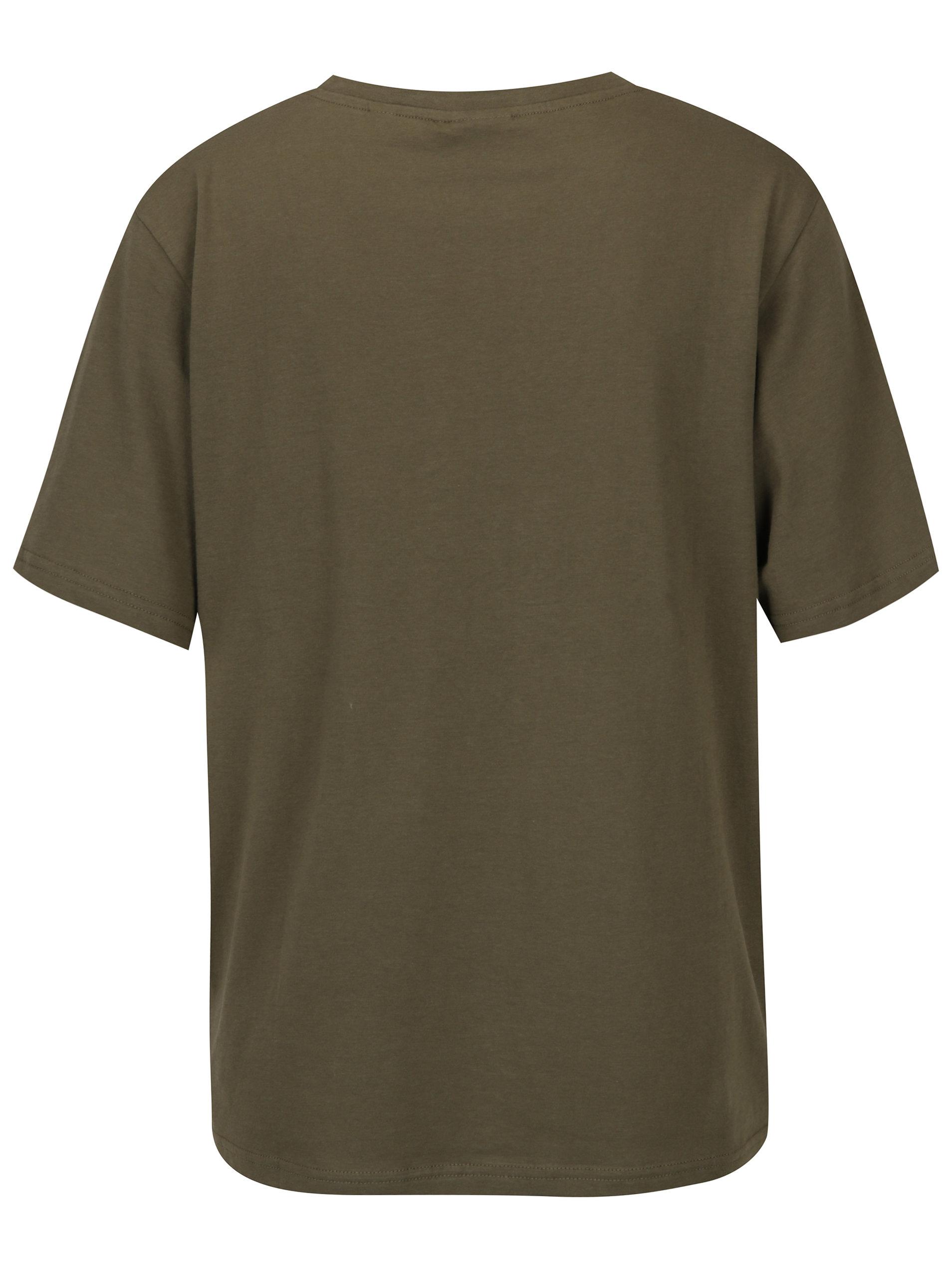 21bf15a44cb6 Kaki dámske voľné tričko s potlačou Cheap Monday Love ...