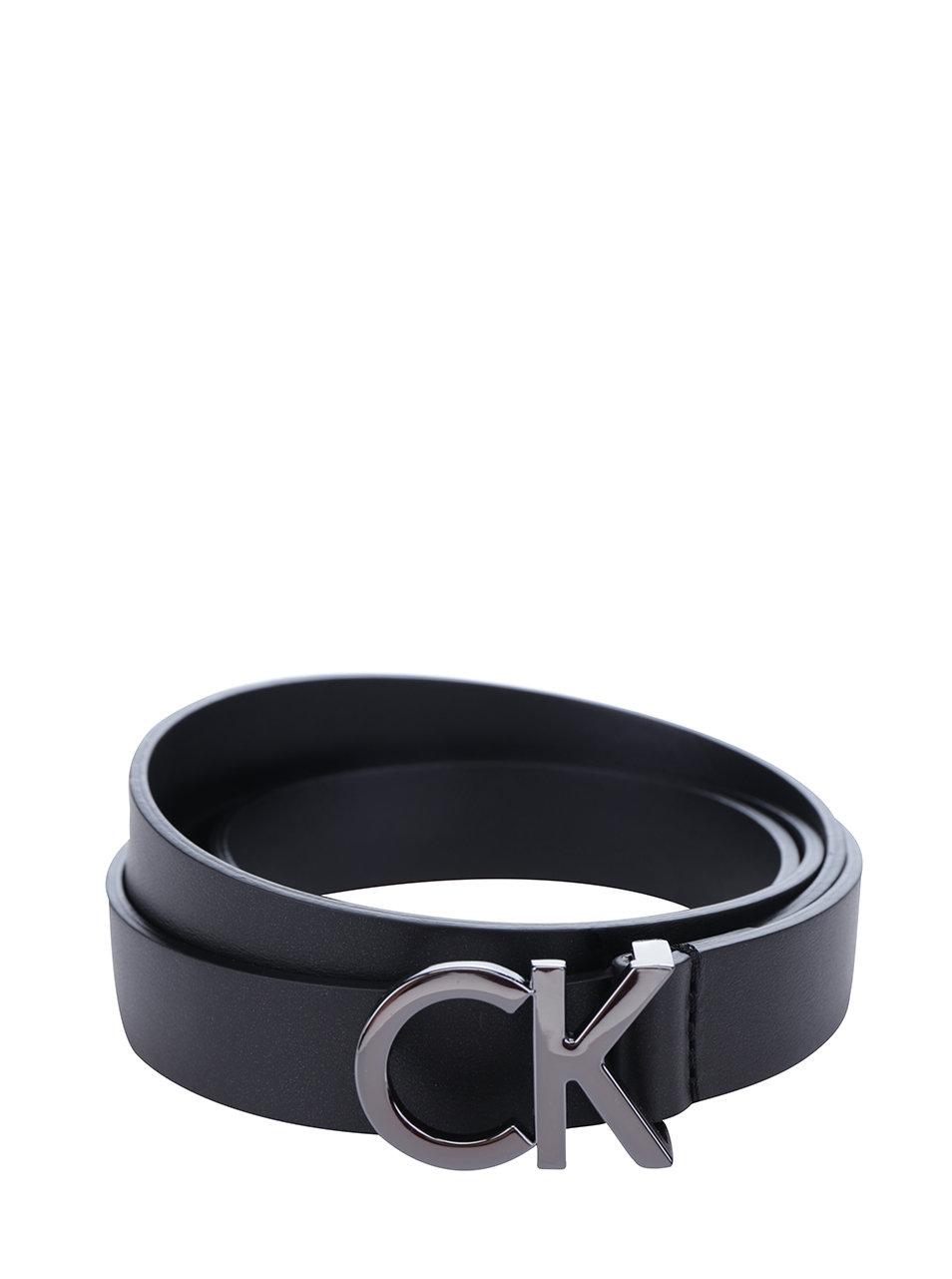 ad174f7b0 Čierny dámsky tenký kožený opasok Calvin Klein Skinny | ZOOT.sk