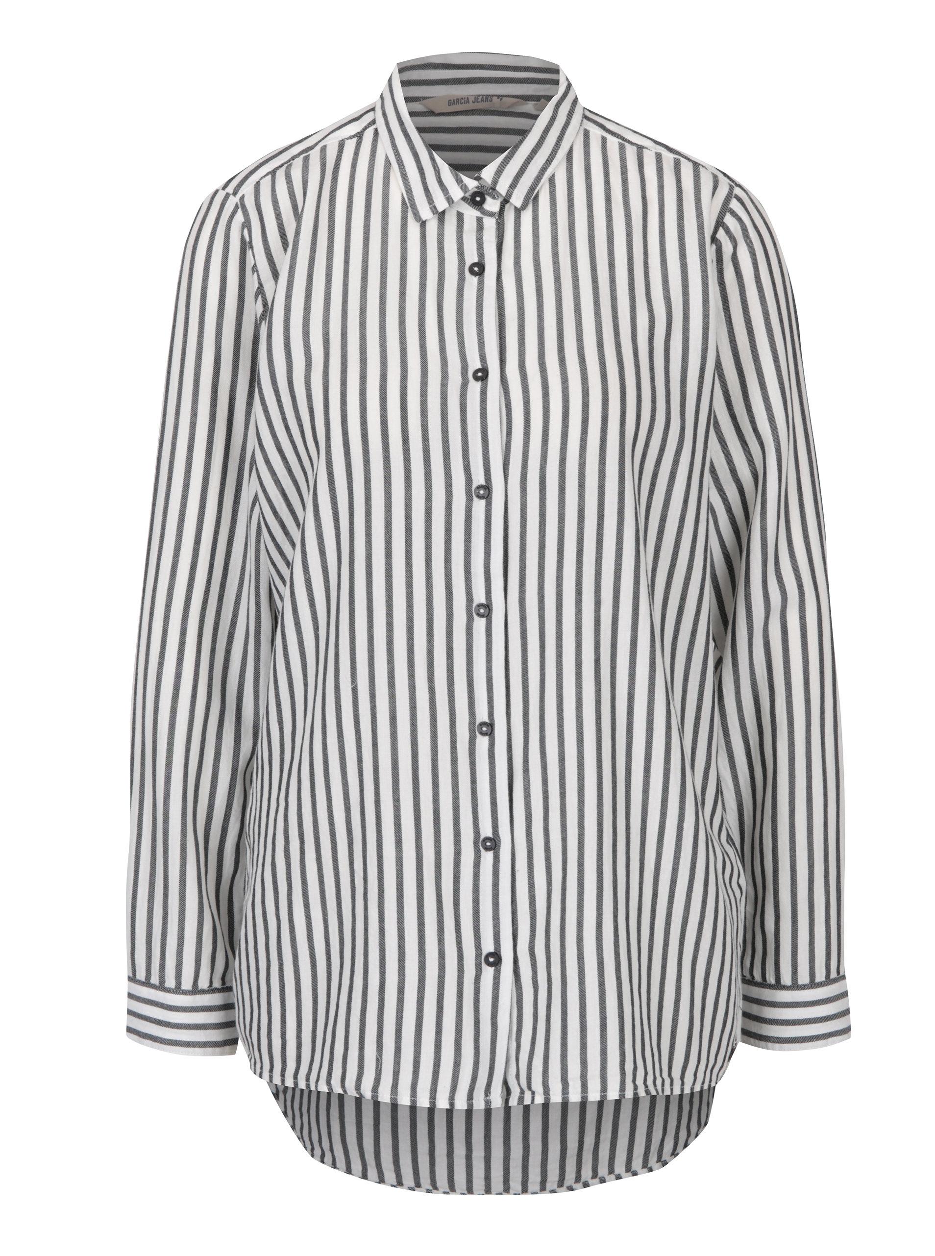8955cd3ba0da Černo-bílá dámská pruhovaná košile Garcia Jeans ...