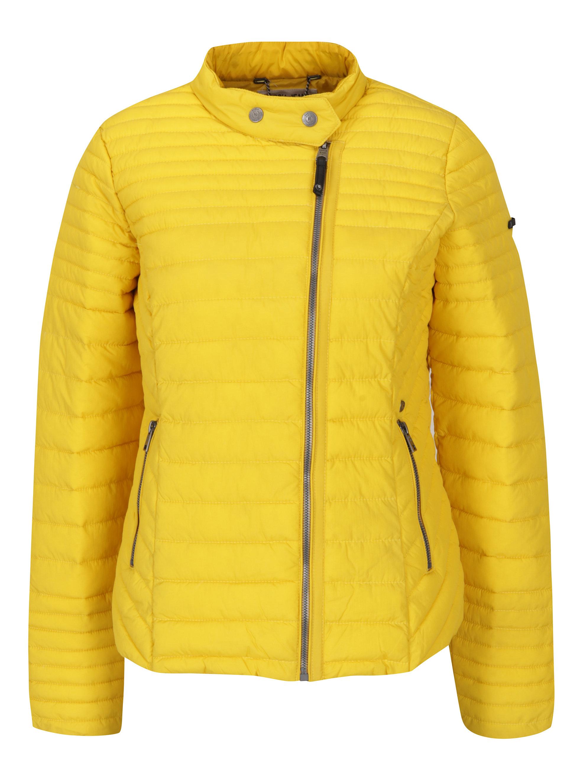 Žltá dámska prešívaná bunda Garcia Jeans ... 695ce56e2ce
