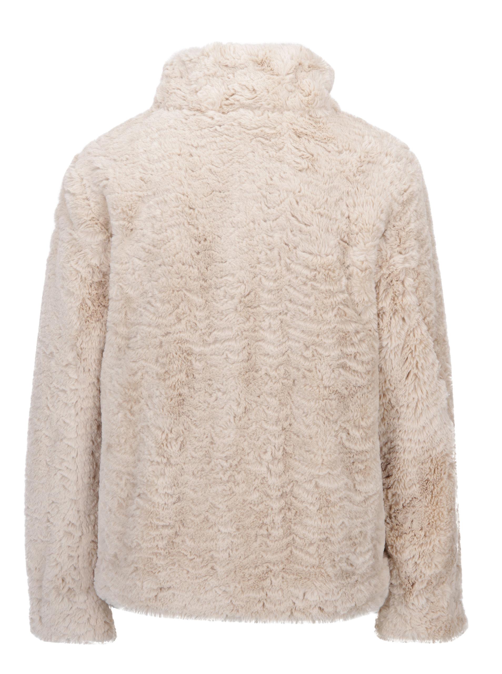 78a55f3e610a Béžová bunda z umelej kožušiny Dorothy Perkins ...