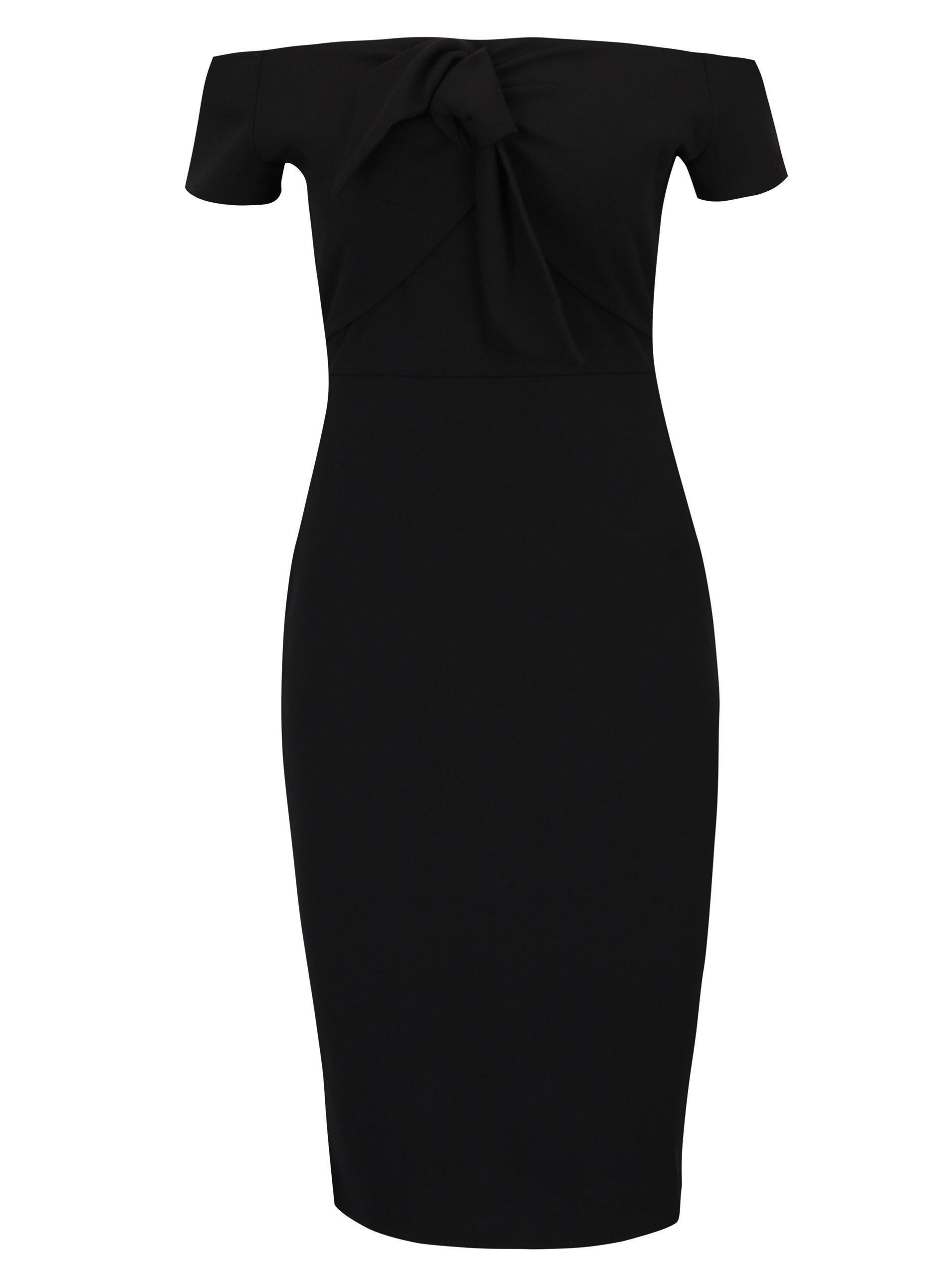 0ef1ced2c1e8 Černé pouzdrové šaty s odhalenými rameny Dorothy Perkins ...