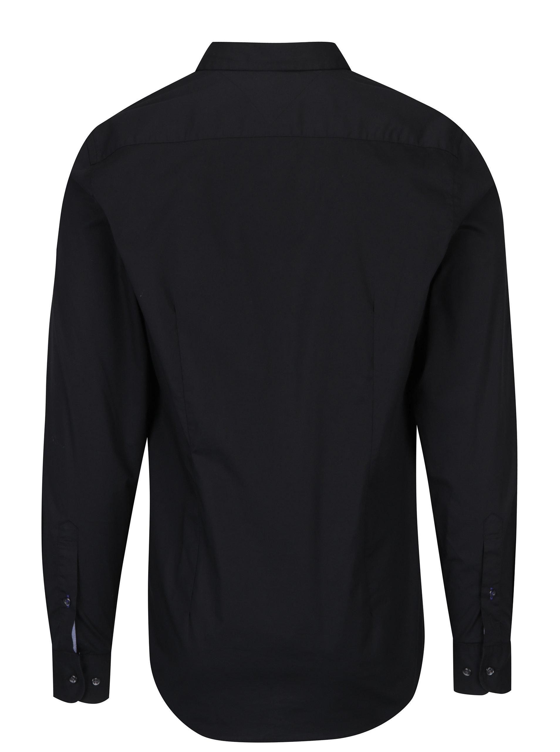Černá pánská slim fit košile Tommy Hilfiger Stretch ... 80f96aeba4