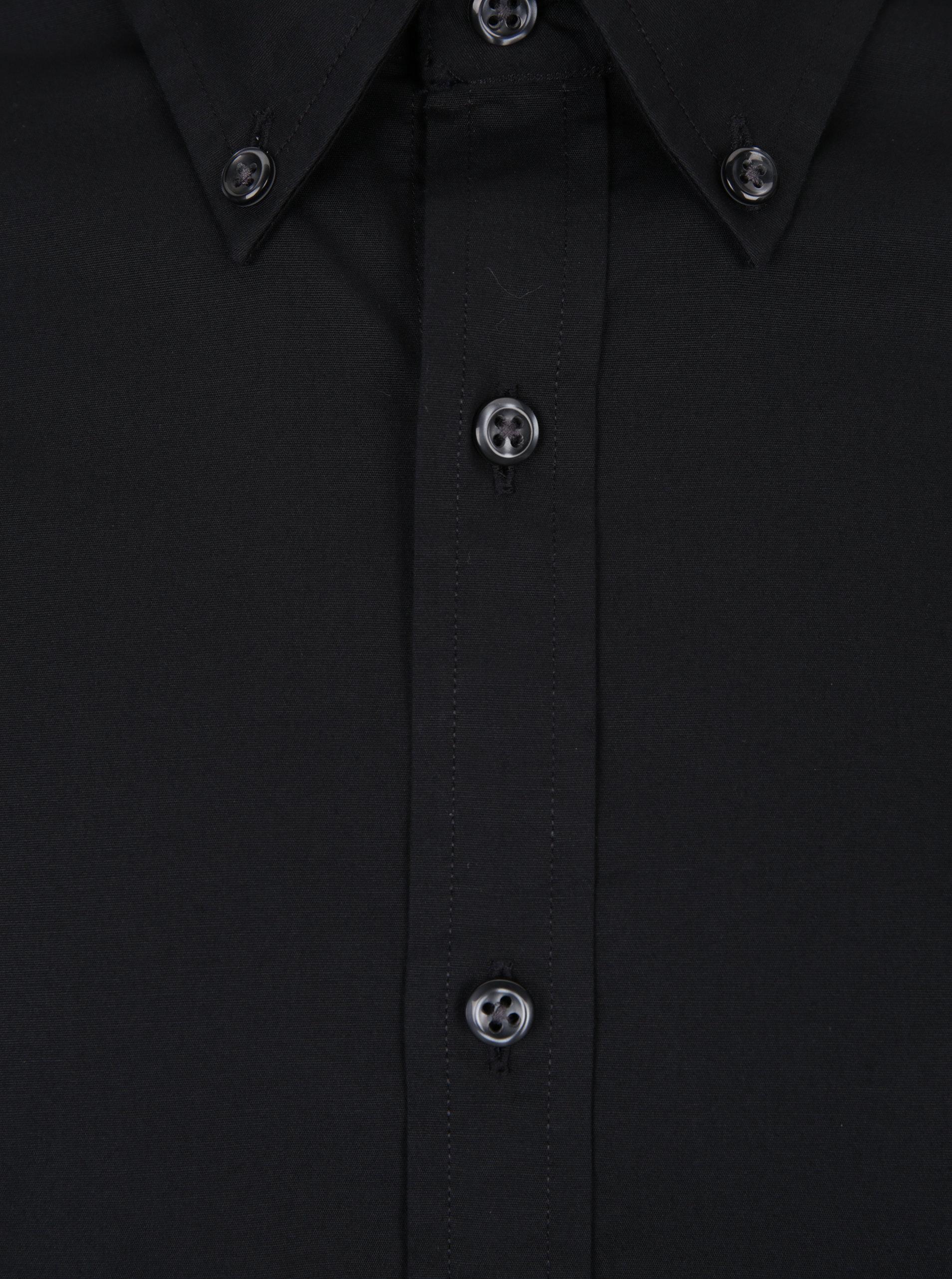 868568a5ccc9 Čierna pánska slim fit košeľa Tommy Hilfiger Stretch ...