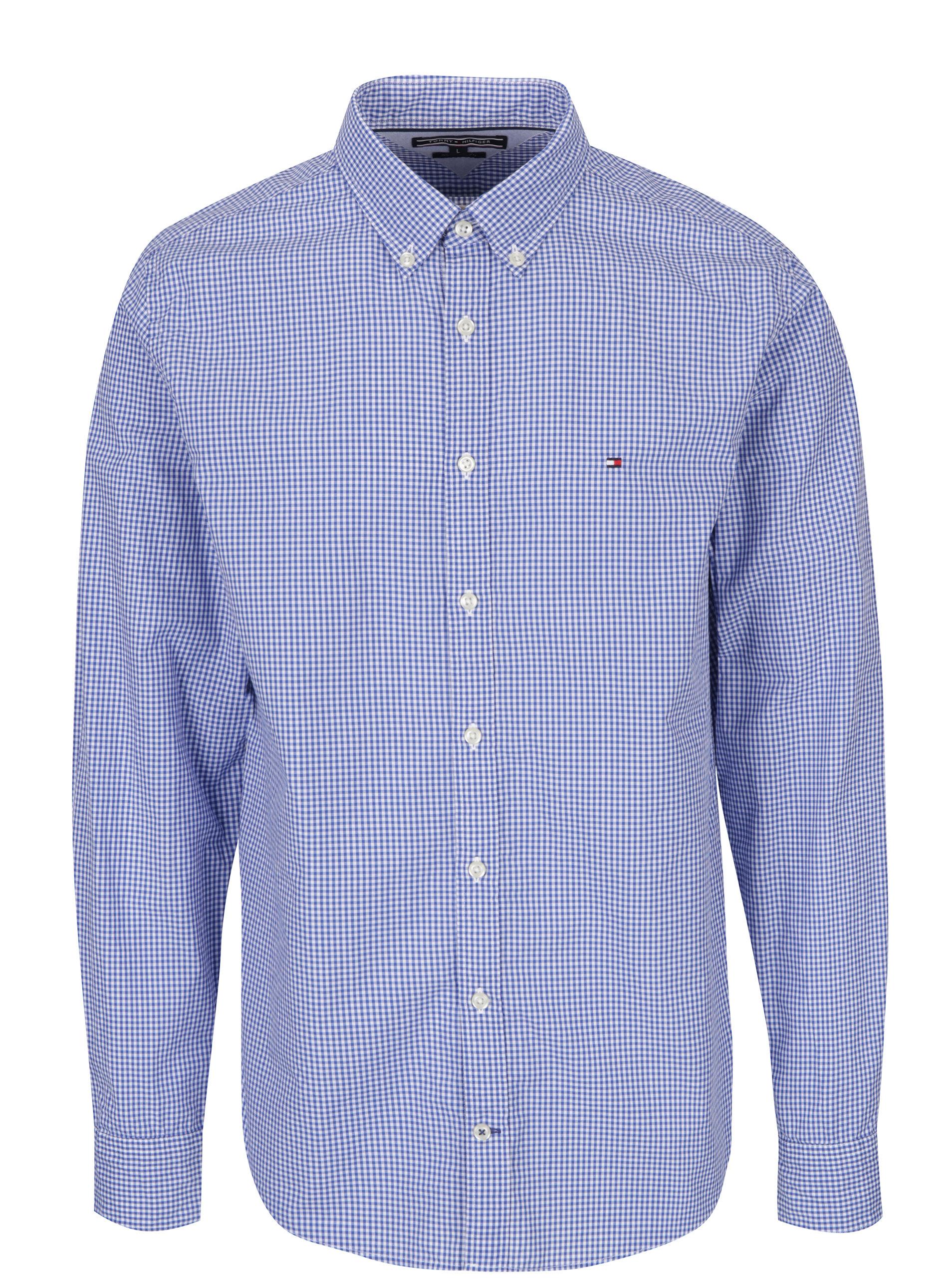 4d1e03c578c1 Svetlomodrá pánska kockovaná košeľa Tommy Hilfiger Ivy ...