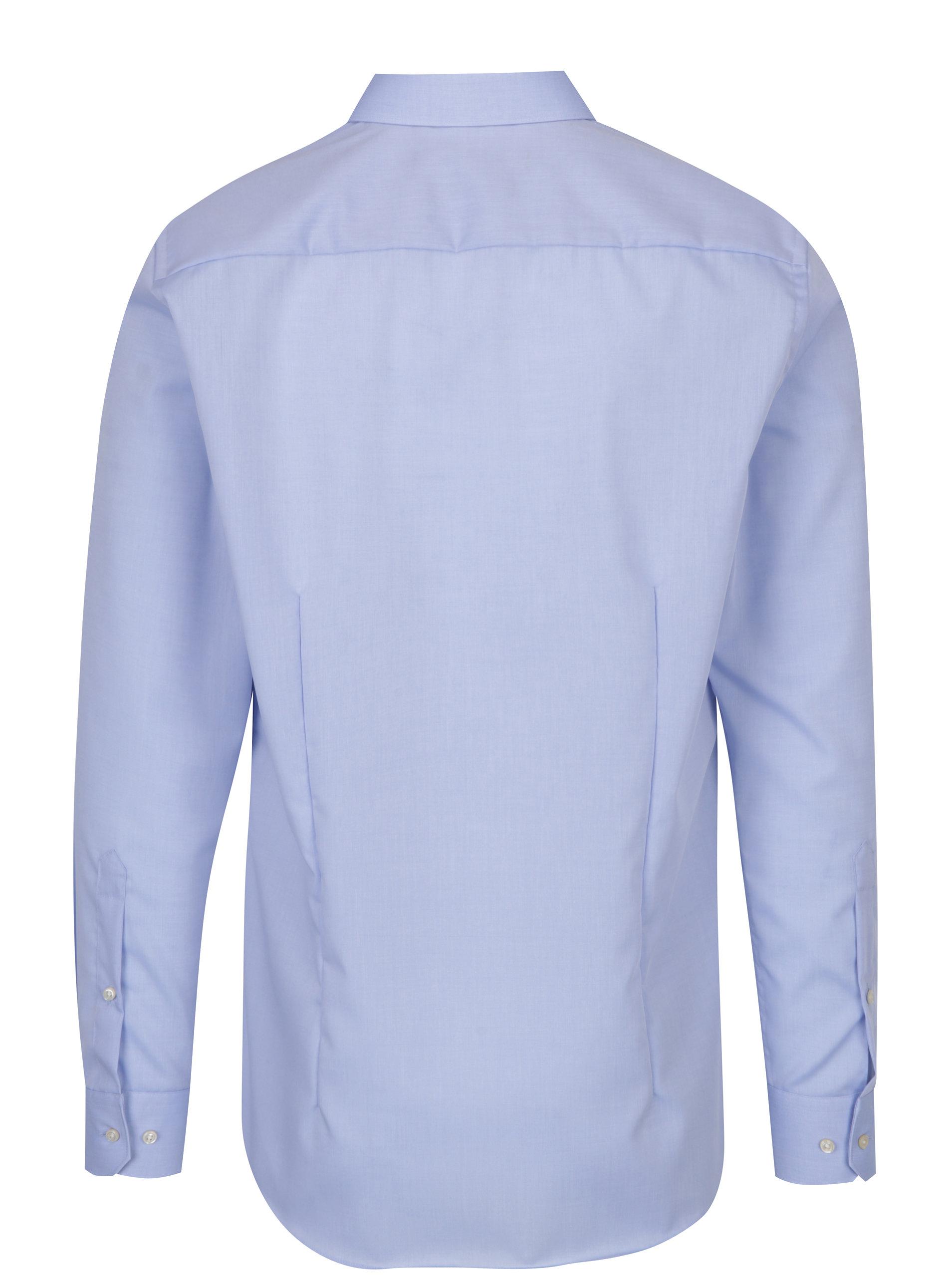 b35011aba4b Světle modrá pánská formální slim fit košile STEVULA ...