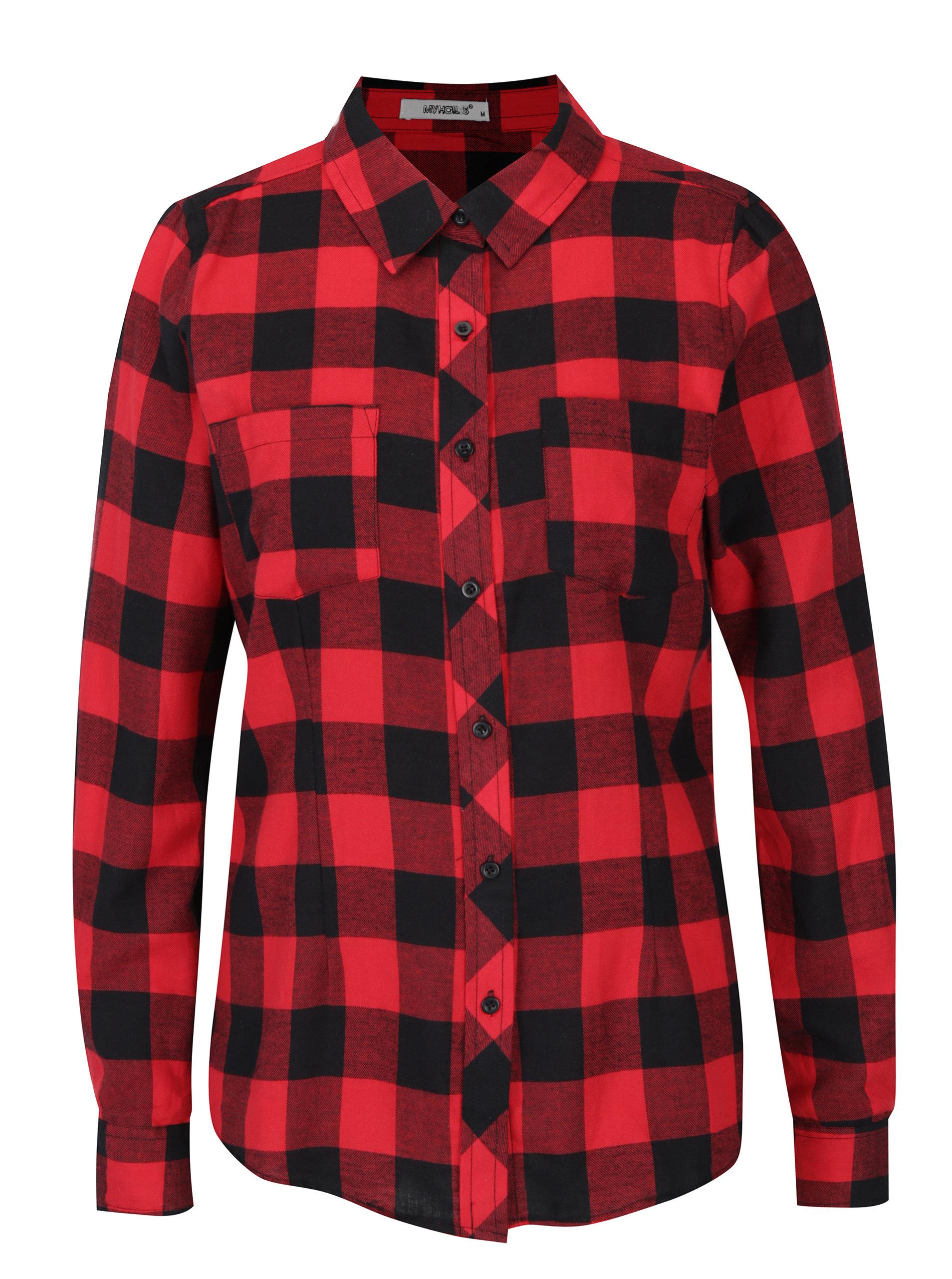 Černo-červená kostkovaná košile Haily´s Biljana ... ae72d0a779