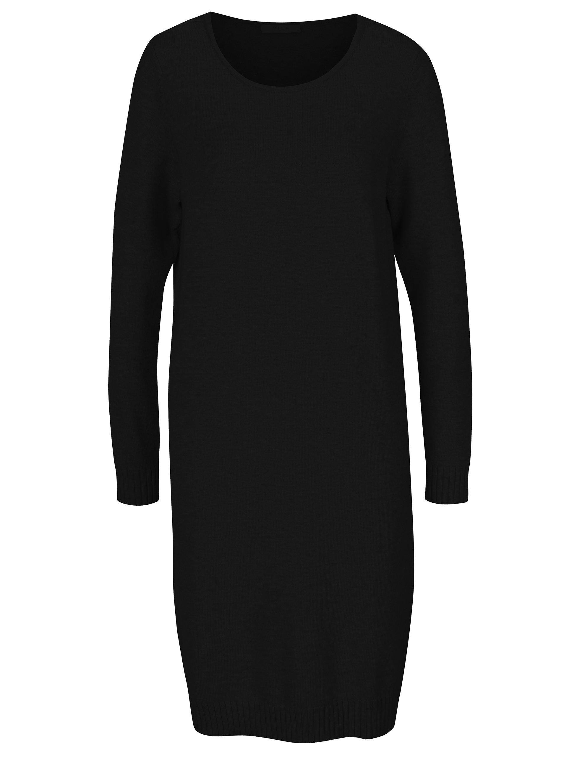 9dc8b325268a Černé svetrové šaty VILA Ril ...
