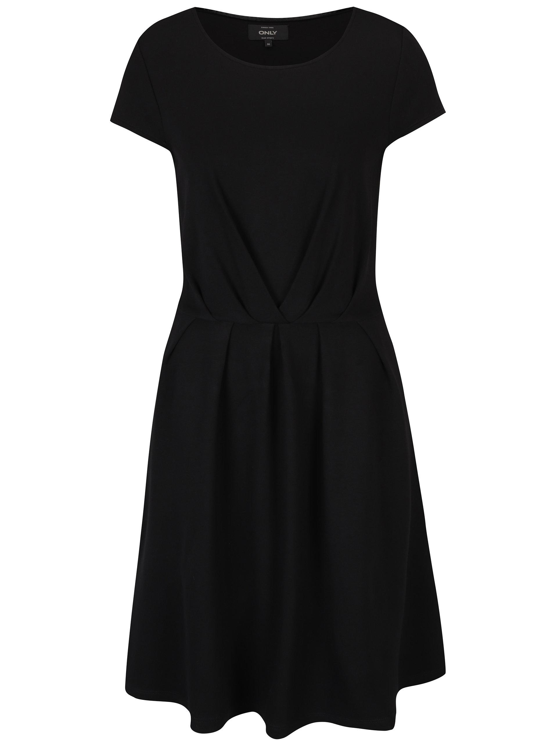 Čierne áčkové šaty s krátkym rukávom ONLY Stine ... 4c4085e2c83