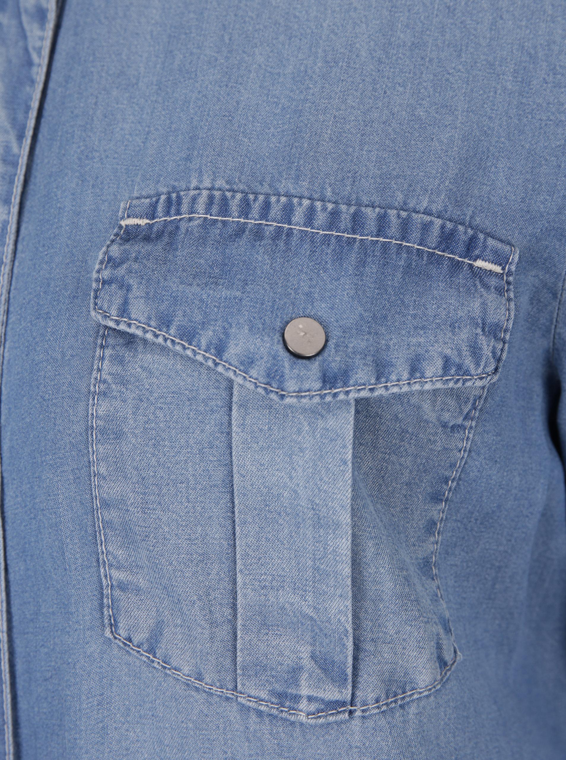 198aef409262 Svetlomodré rifľové košeľové šaty VERO MODA Silla ...